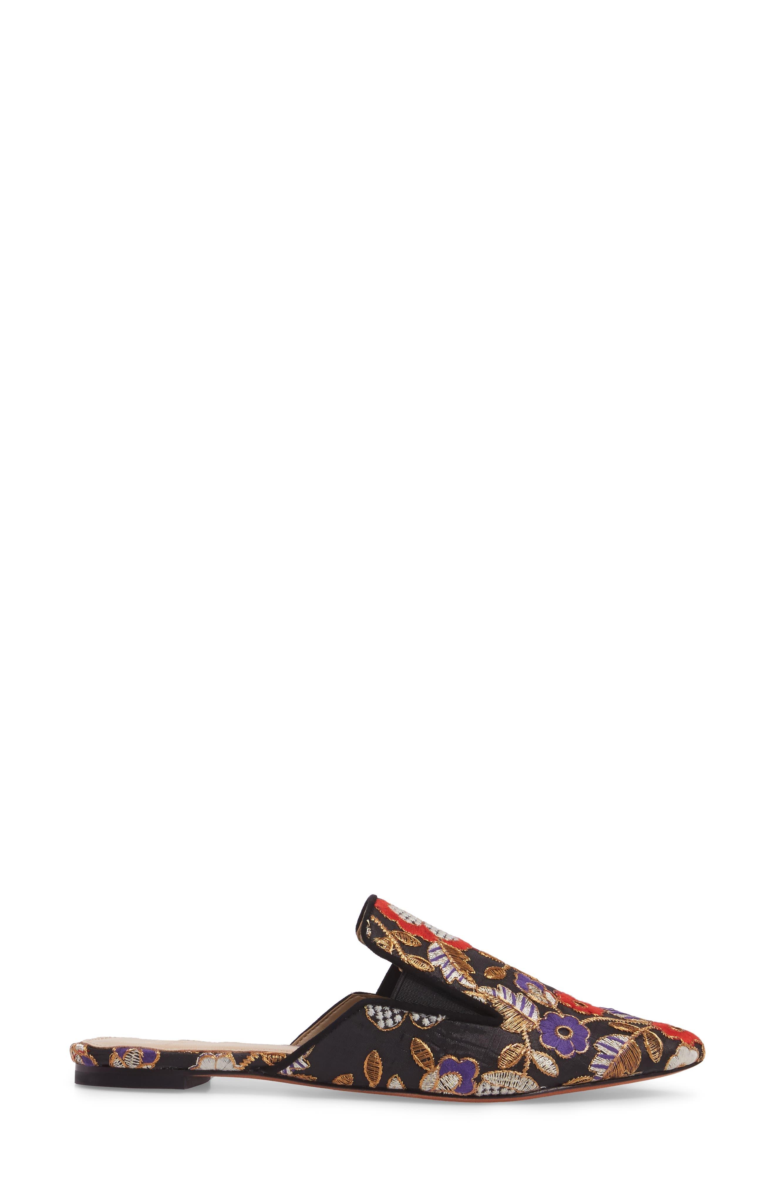 MARC FISHER LTD, Shiloh Flat Mule, Alternate thumbnail 3, color, 002