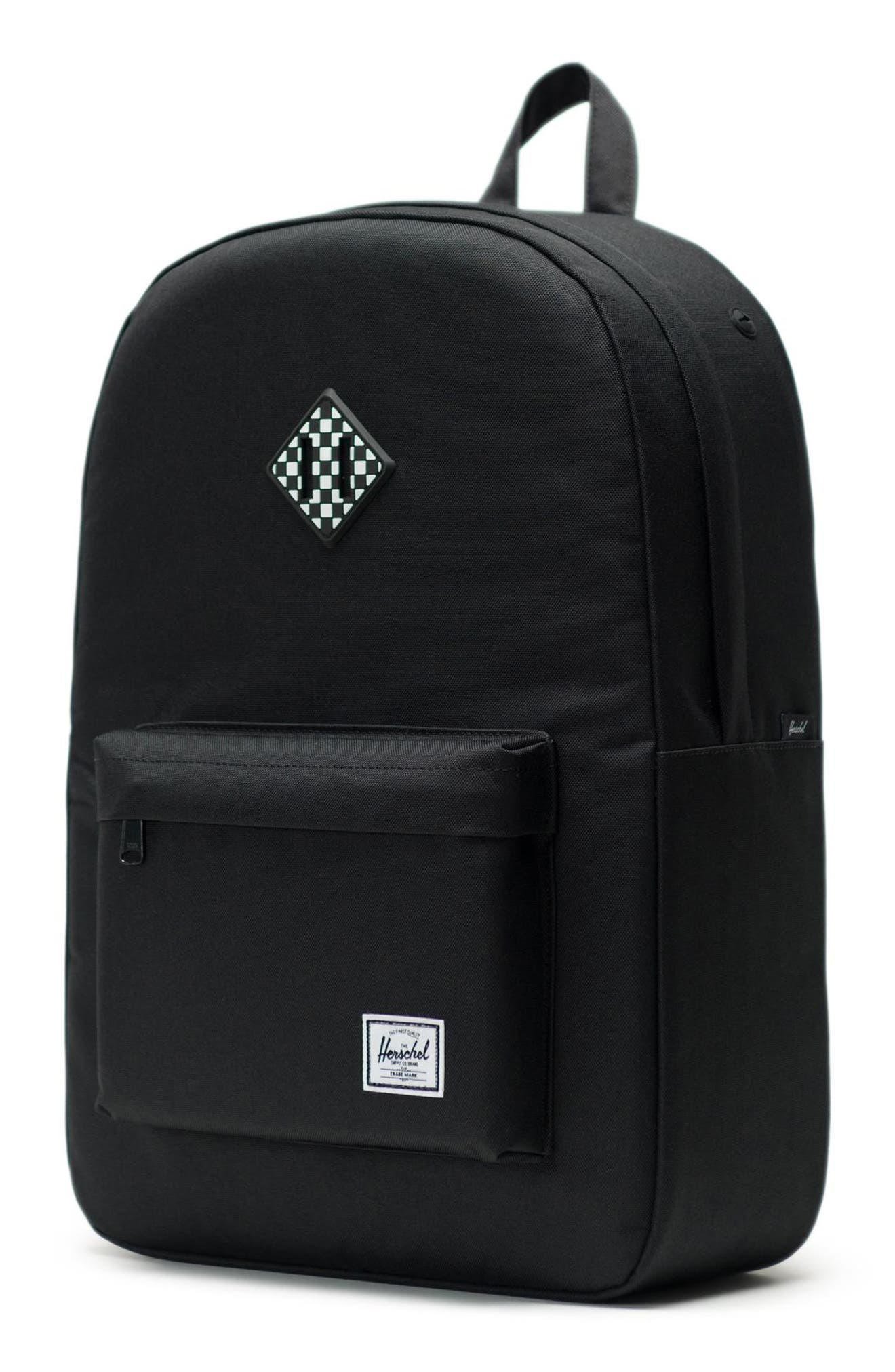 HERSCHEL SUPPLY CO., Heritage Print Backpack, Alternate thumbnail 5, color, 001