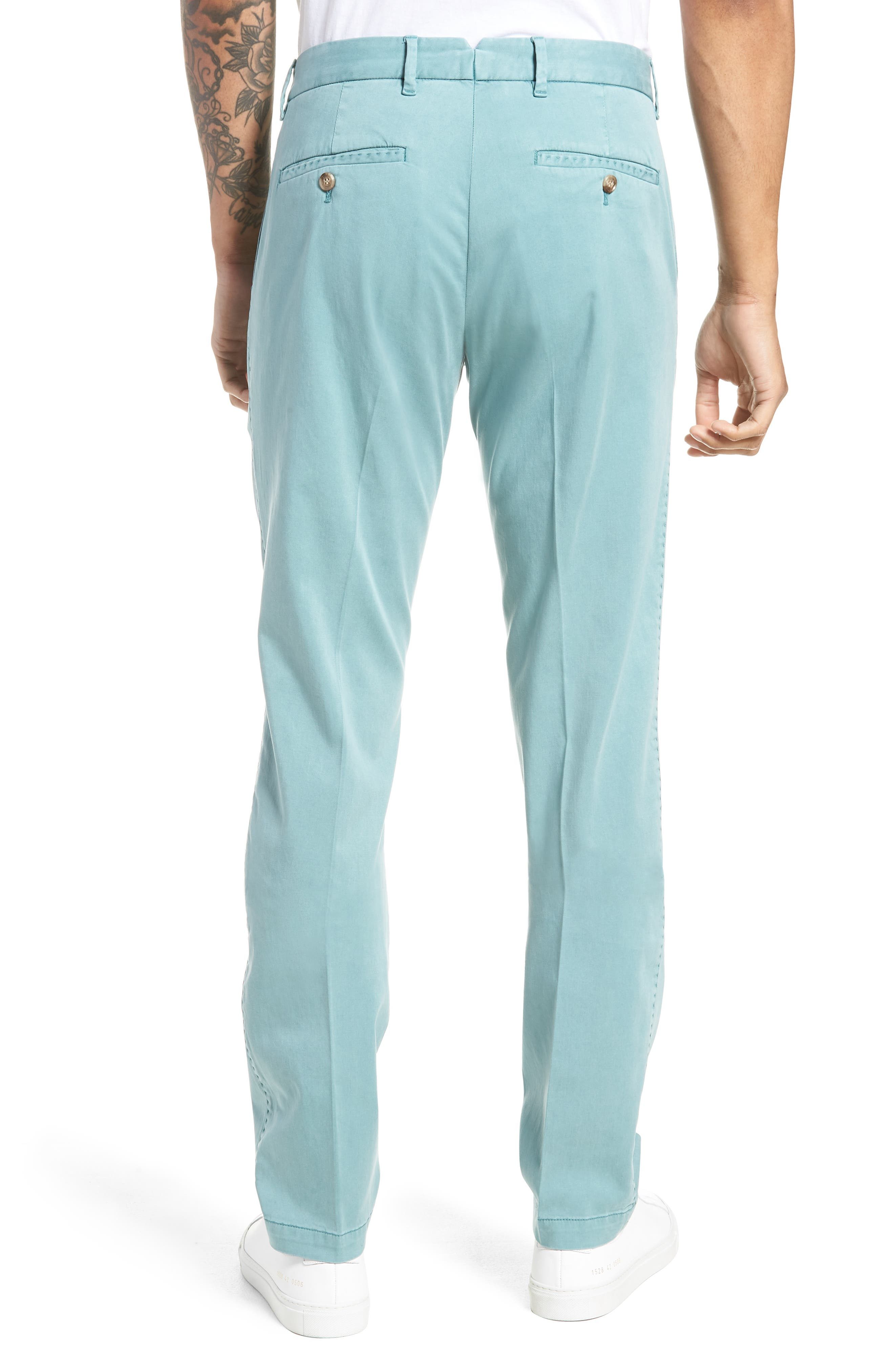 ZACHARY PRELL, Aster Straight Fit Pants, Alternate thumbnail 2, color, TEAL
