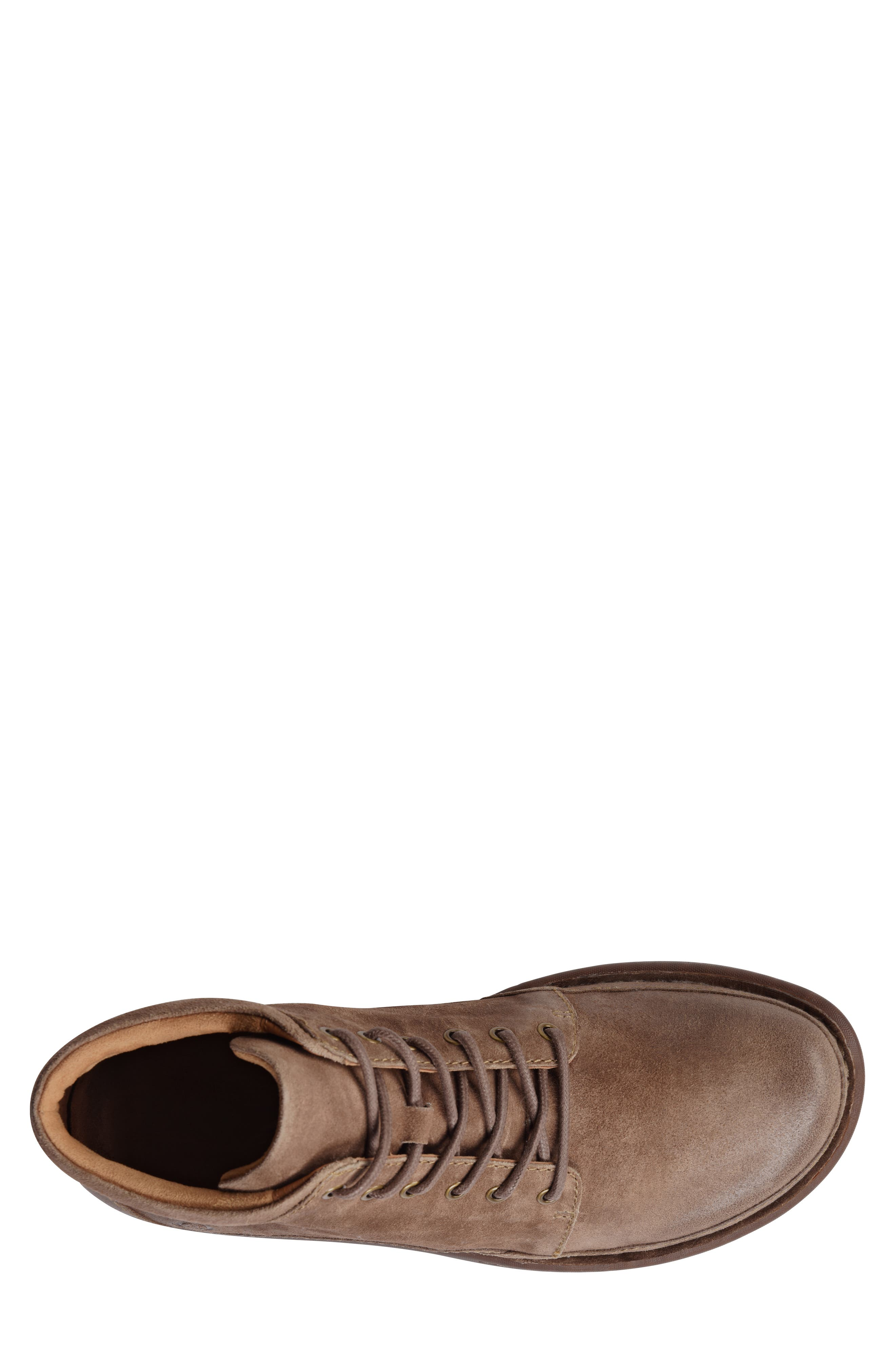 BØRN, Nigel Low Boot, Alternate thumbnail 5, color, TAUPE LEATHER