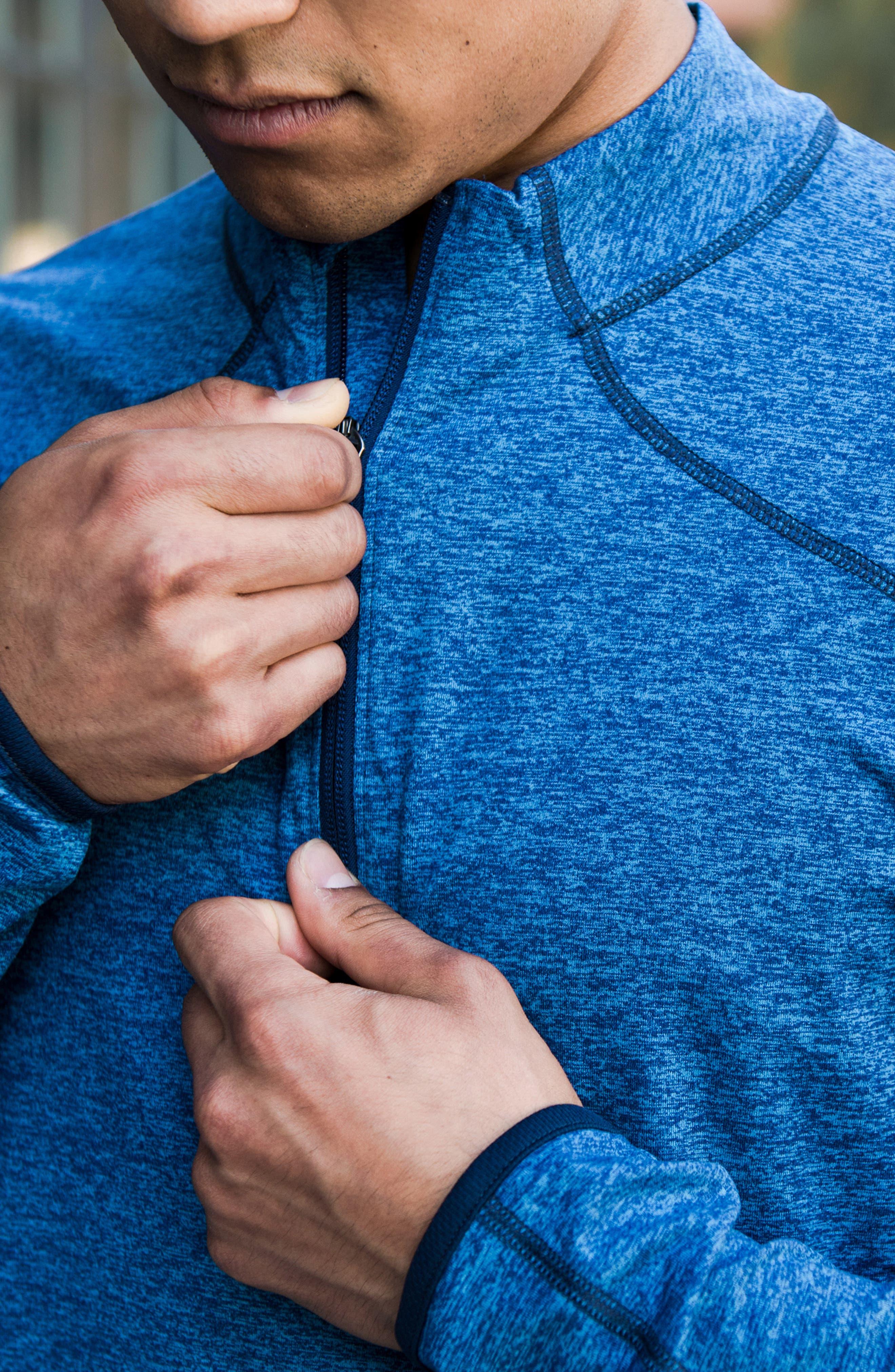 SODO, 'Elevate' Moisture Wicking Stretch Quarter Zip Pullover, Alternate thumbnail 2, color, OCEAN BLUE/ NAVY