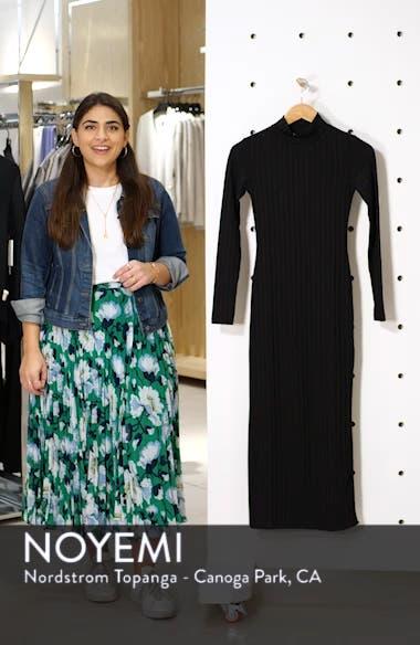 High Neck Ribbed Midi Dress, sales video thumbnail
