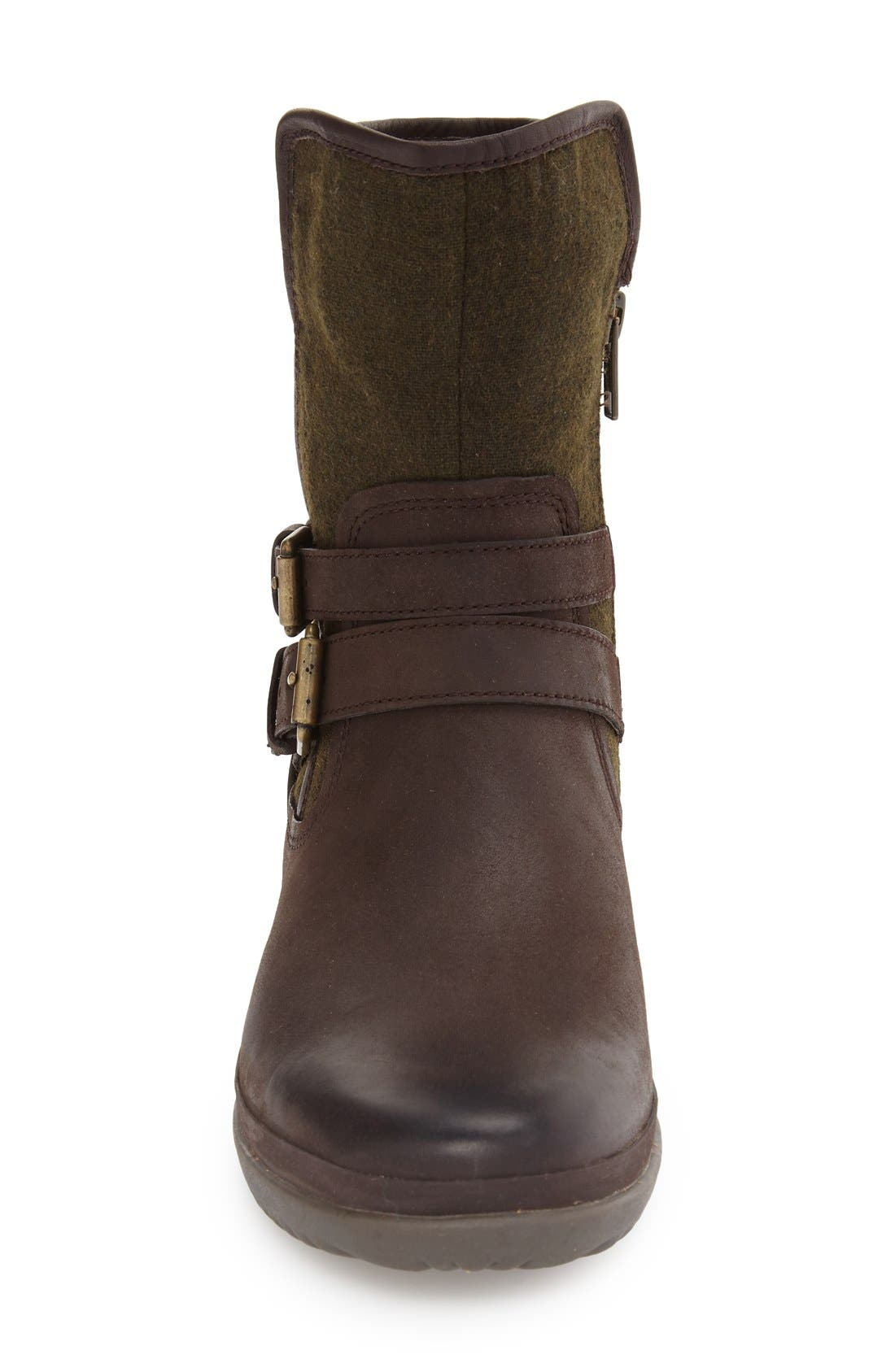 UGG<SUP>®</SUP>, Simmens Waterproof Leather Boot, Alternate thumbnail 2, color, STOUT WOOL
