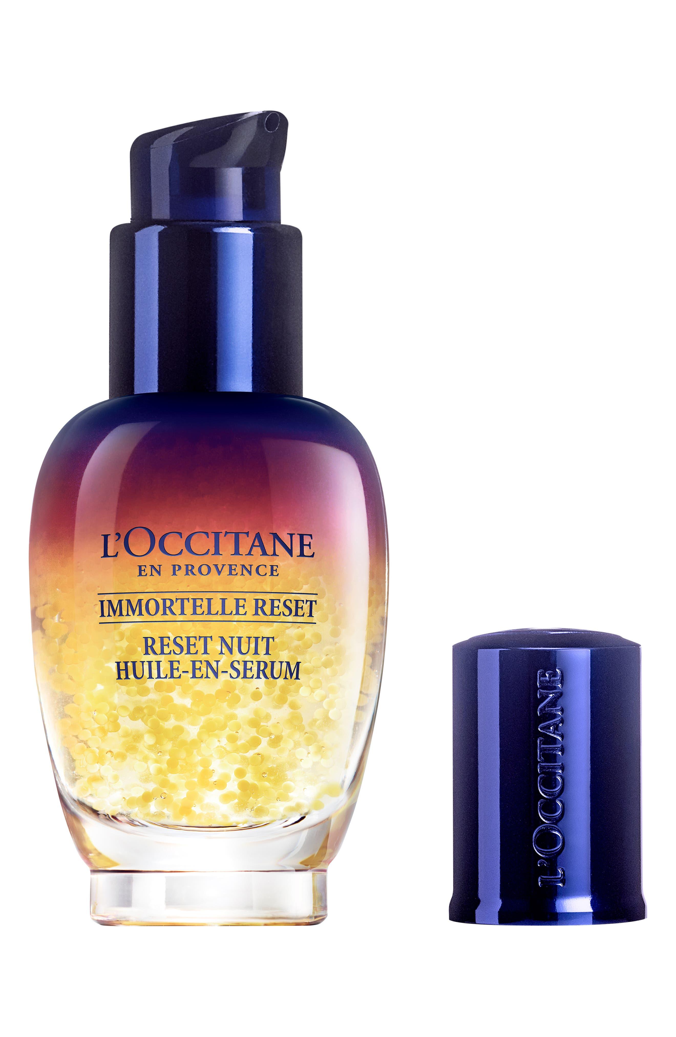 L'OCCITANE, Immortelle Overnight Reset Oil-in-Serum, Alternate thumbnail 2, color, 000