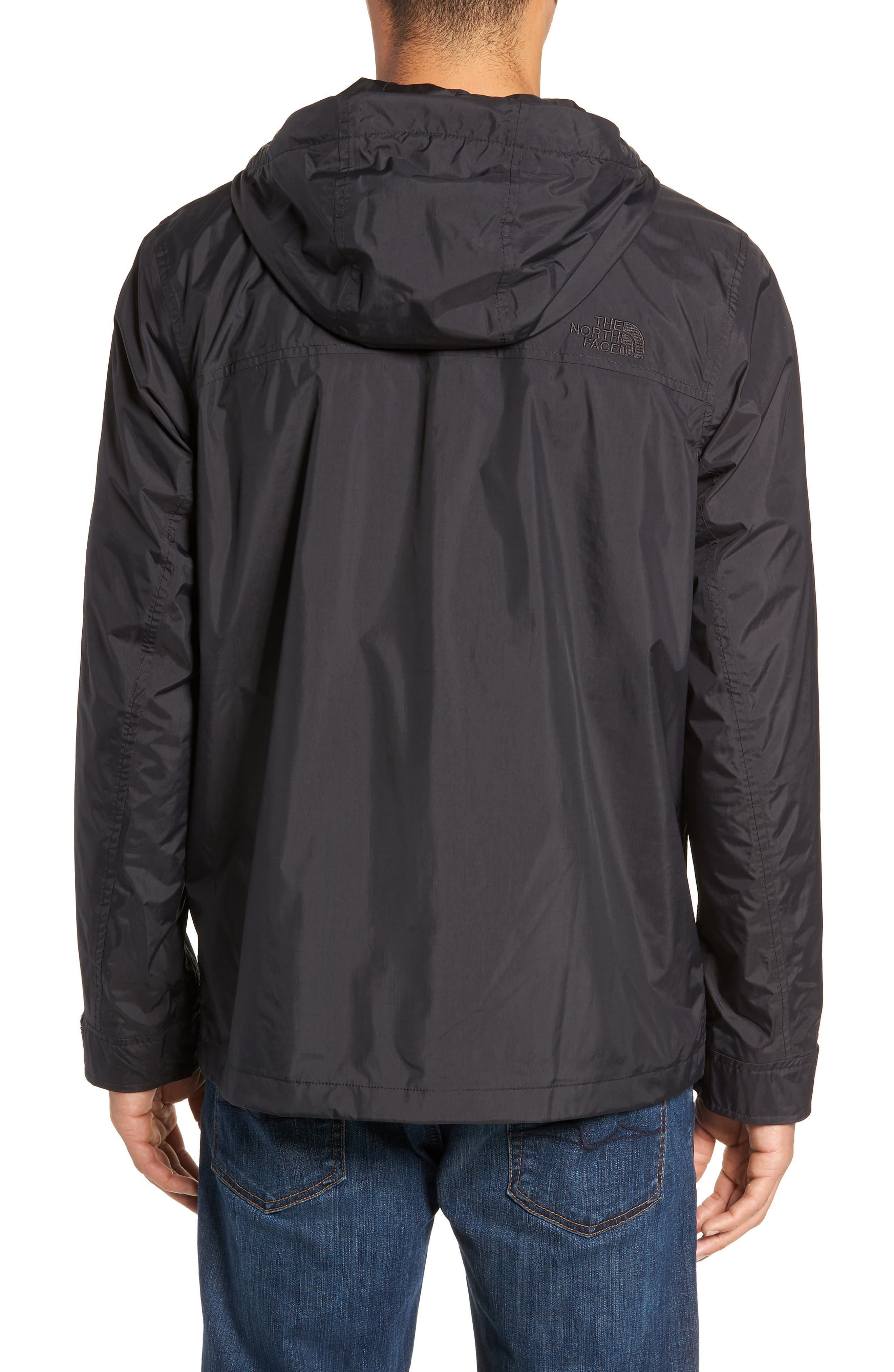 THE NORTH FACE, Zoomie Rain Jacket, Alternate thumbnail 2, color, 001