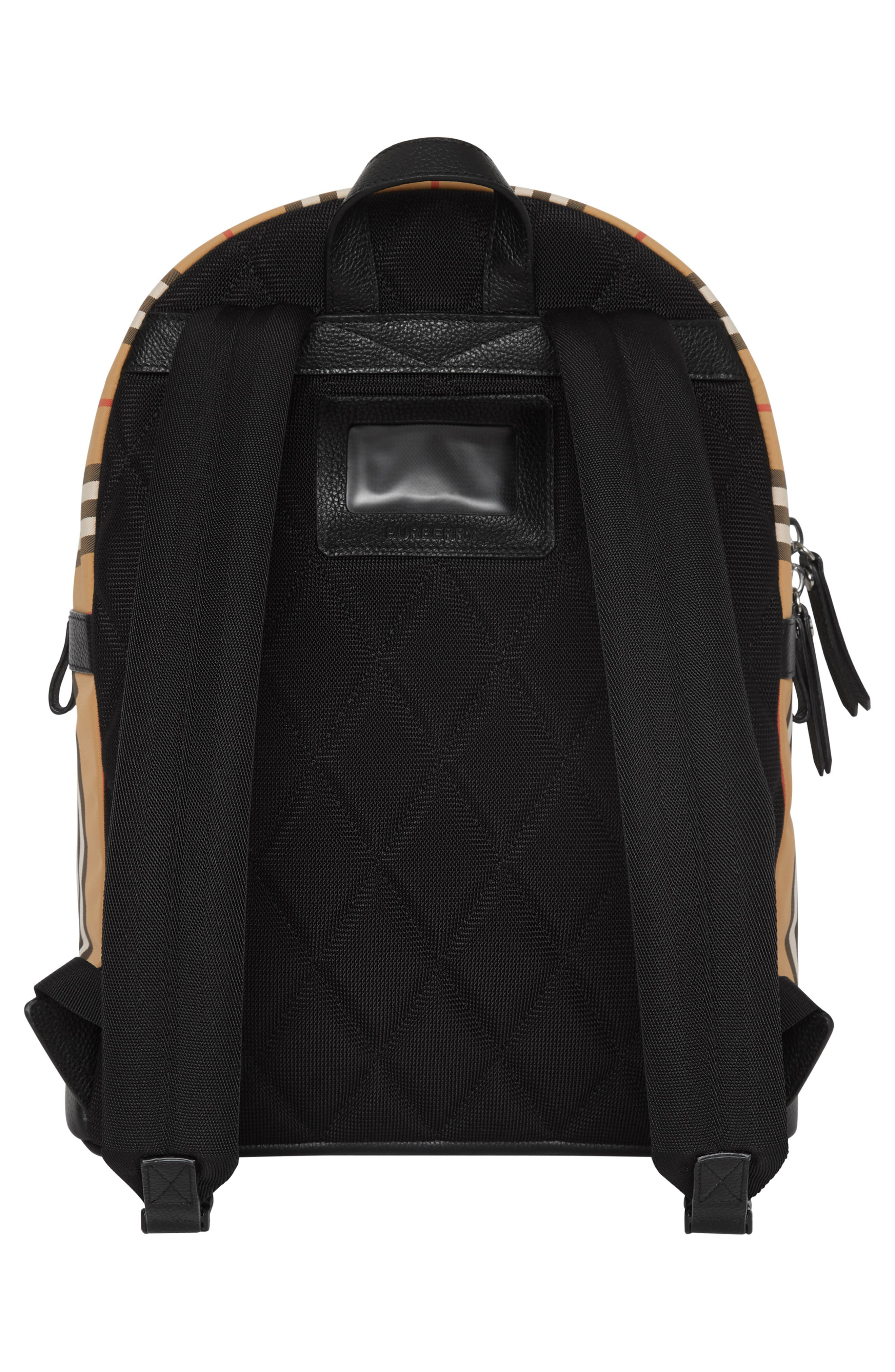 BURBERRY, Nico Archive Stripe Backpack, Alternate thumbnail 2, color, ARCHIVE BEIGE