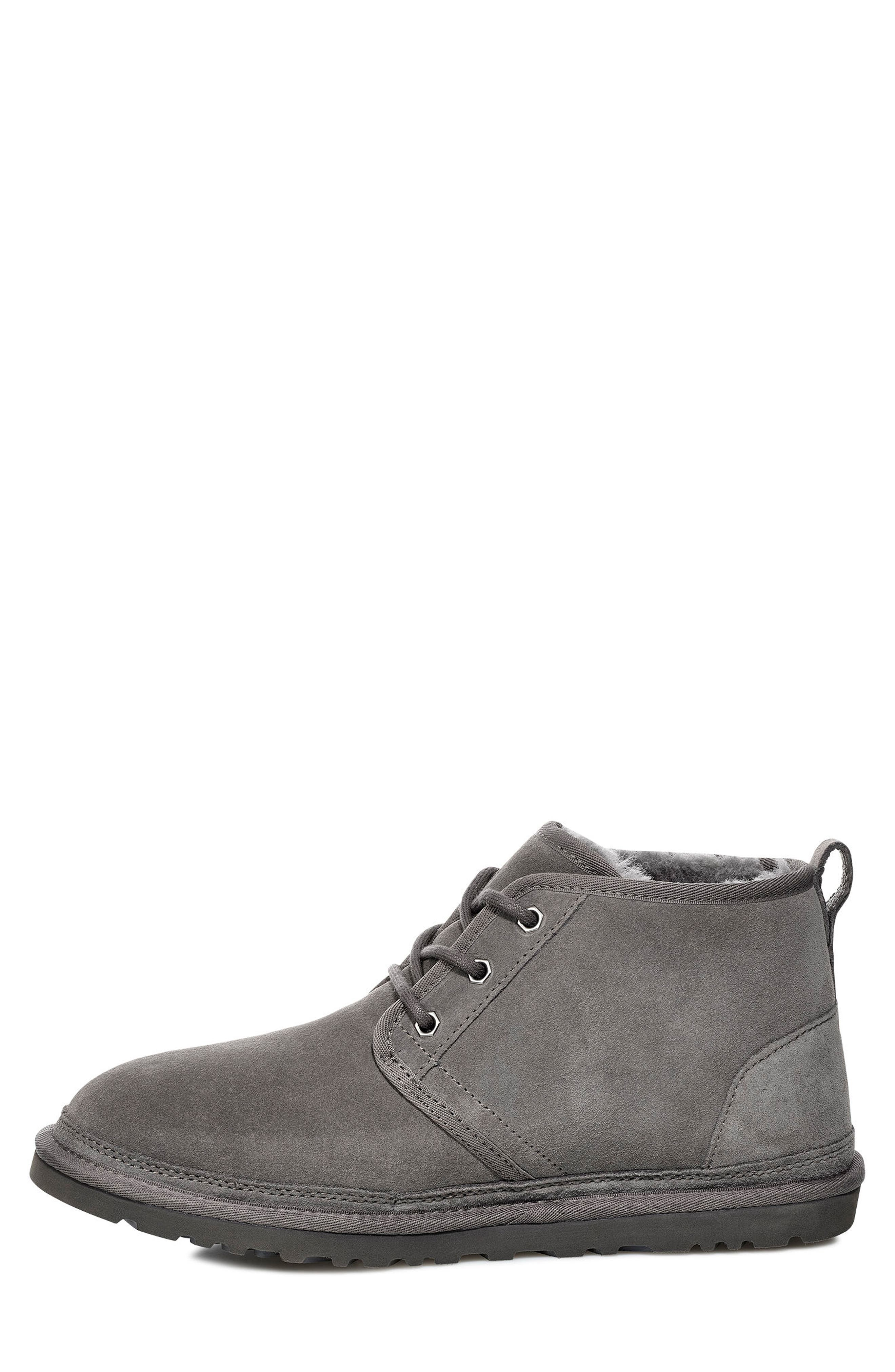 UGG<SUP>®</SUP>, Neumel Chukka Boot, Alternate thumbnail 3, color, CHARCOAL SUEDE