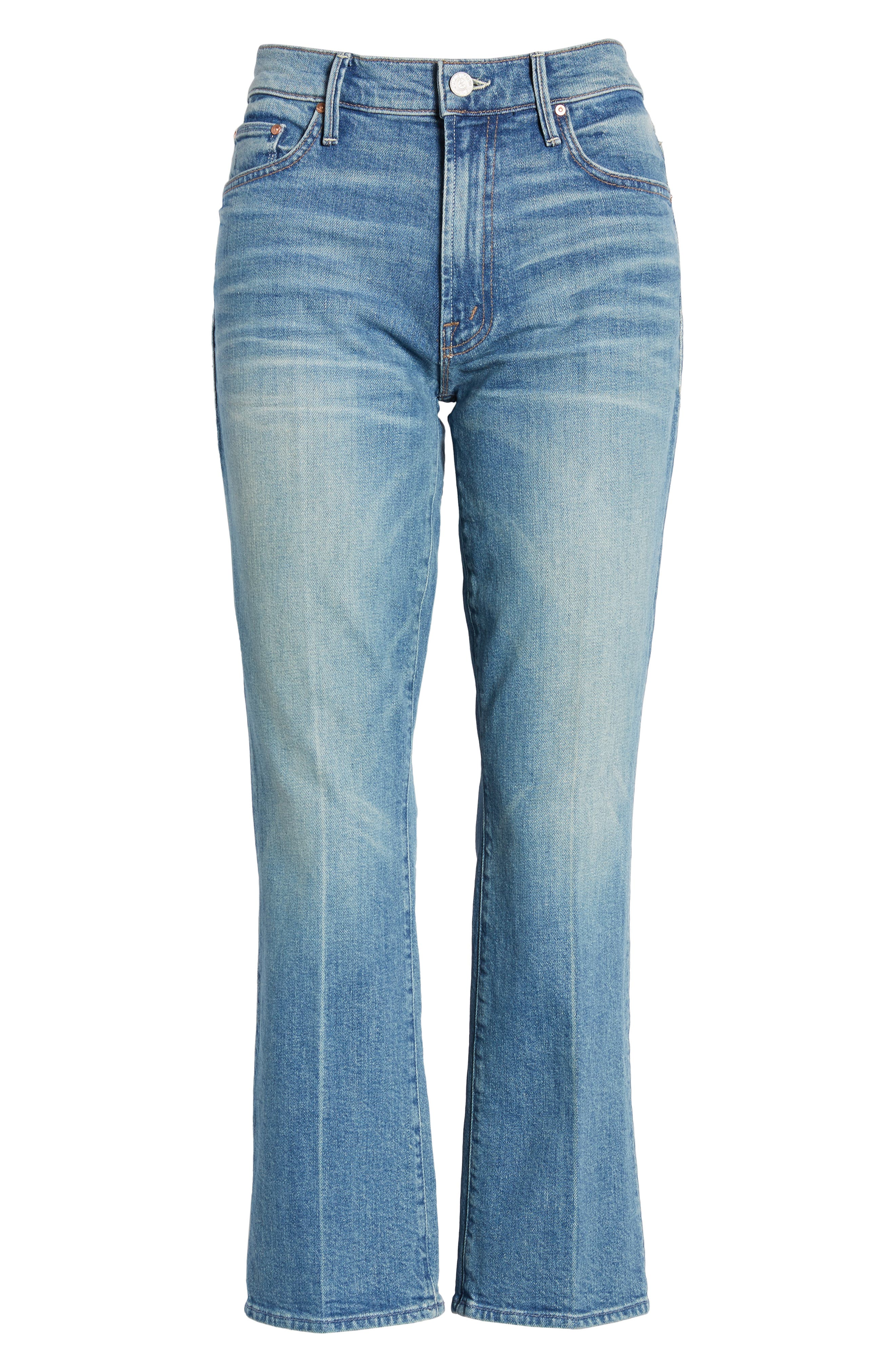 MOTHER, The Insider Ankle Bootcut Jeans, Alternate thumbnail 6, color, 421