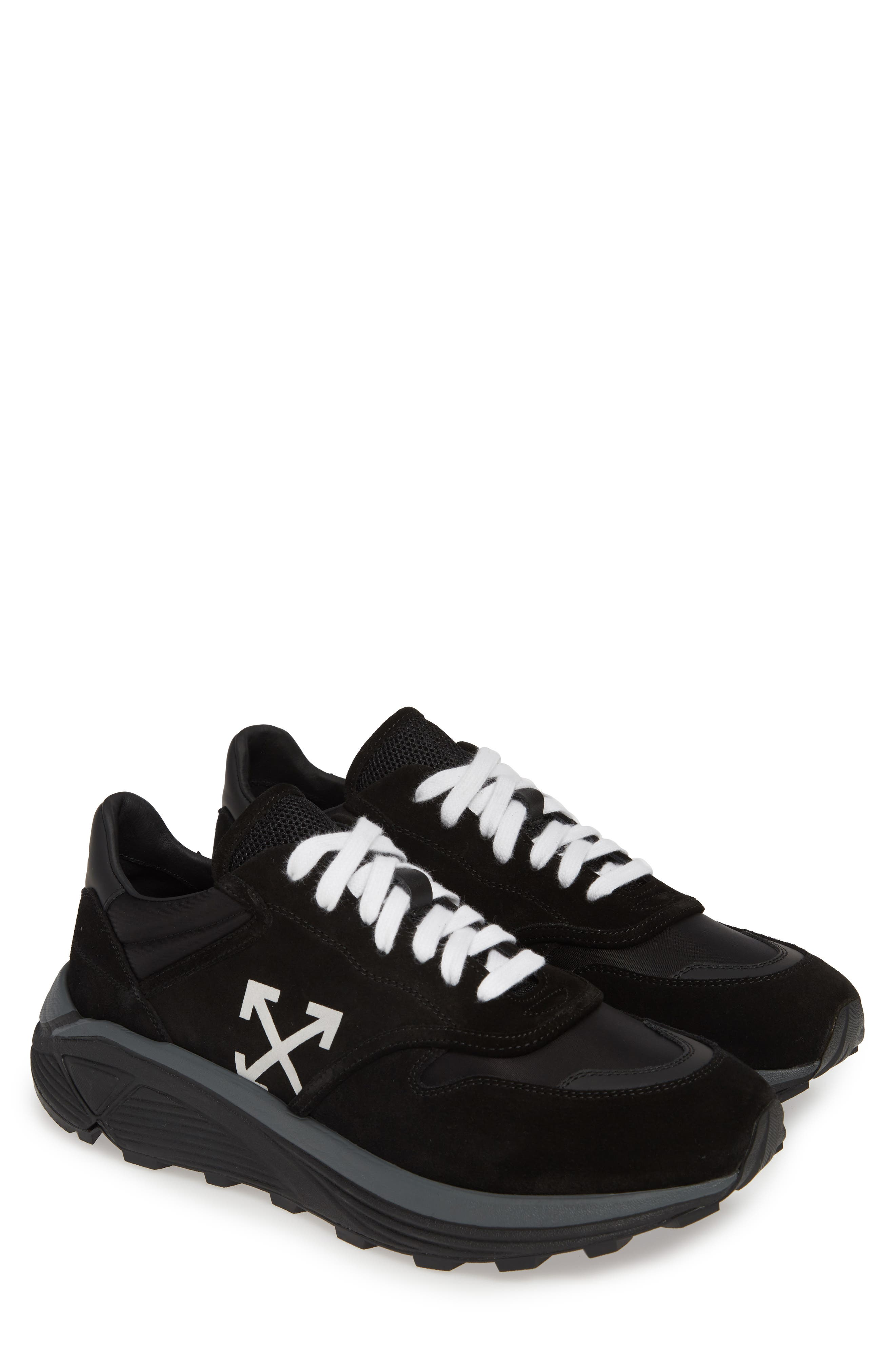 OFF-WHITE, Jogger Sneaker, Alternate thumbnail 2, color, BLACK/ WHITE