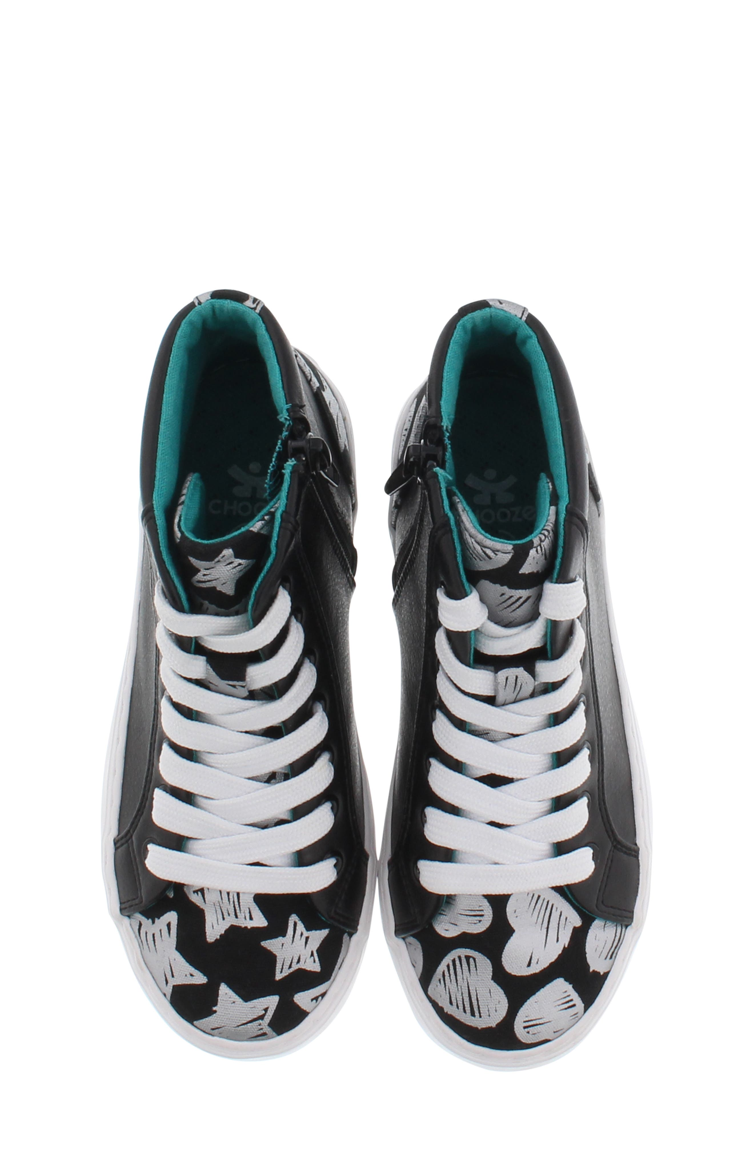 CHOOZE, Uplift Superstar High Top Sneaker, Alternate thumbnail 5, color, BLACK