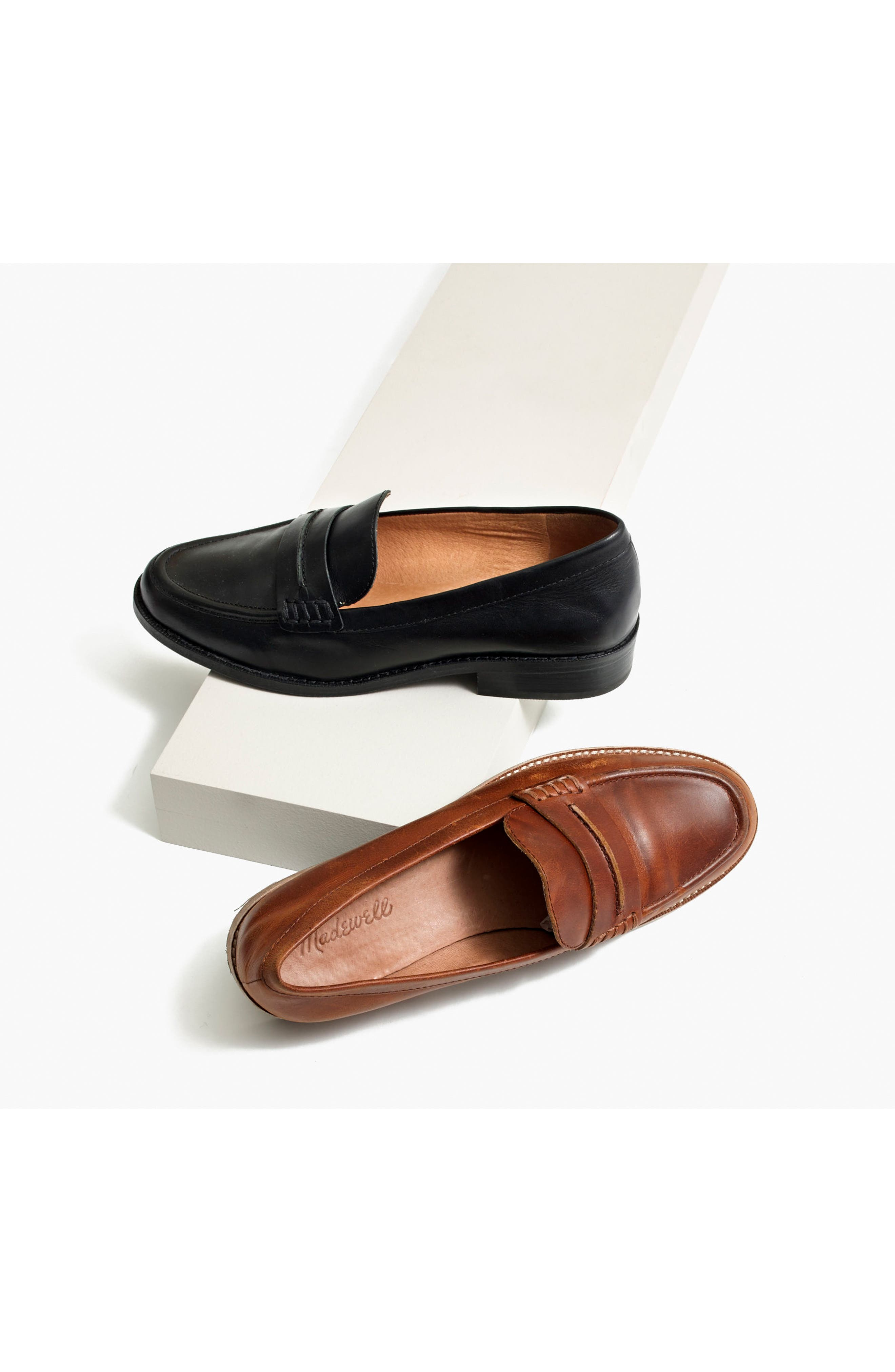 MADEWELL, The Elinor Loafer, Alternate thumbnail 7, color, 001