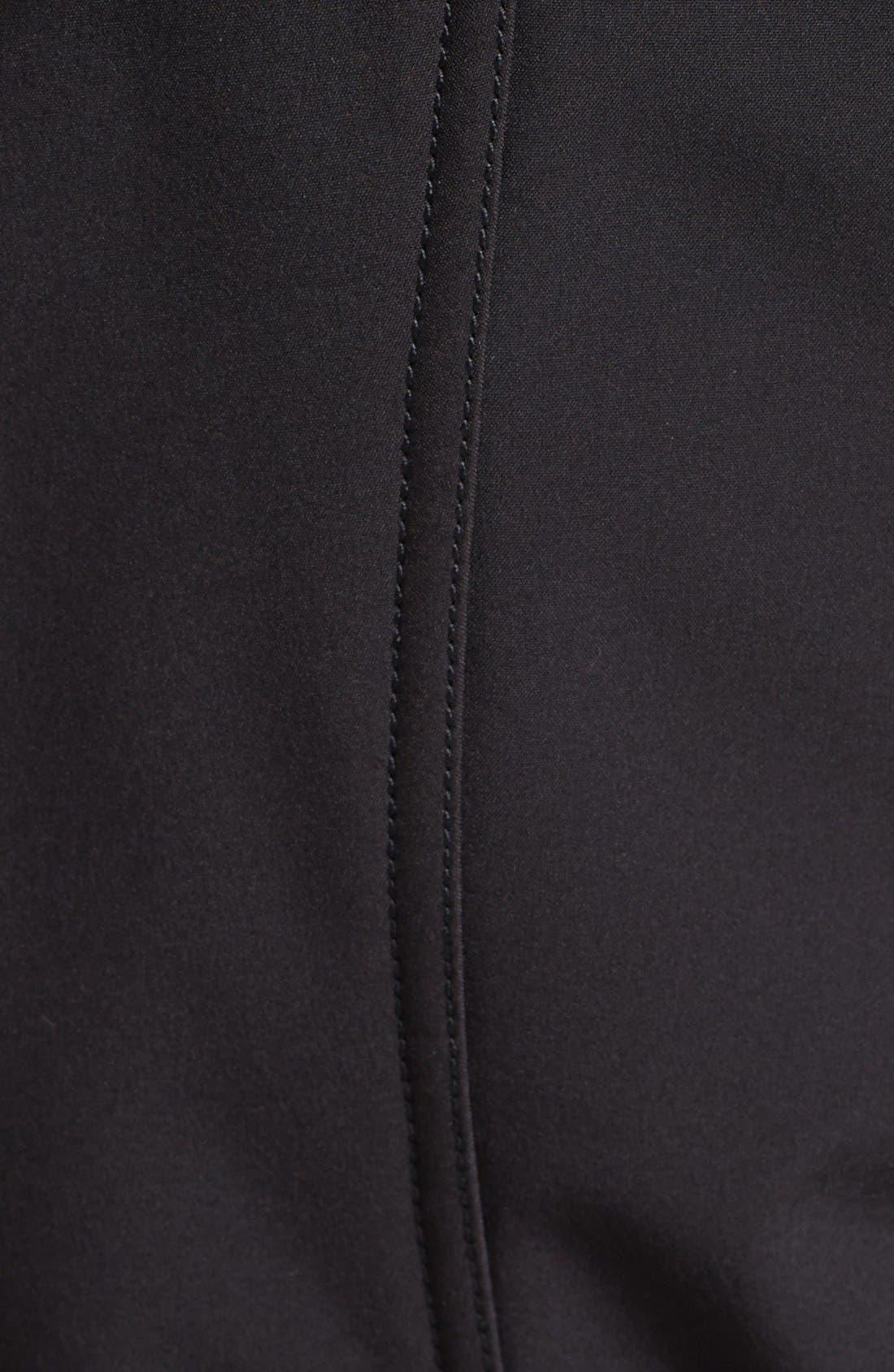 BCBGENERATION, Asymmetrical Belted Softshell Jacket, Alternate thumbnail 2, color, 001