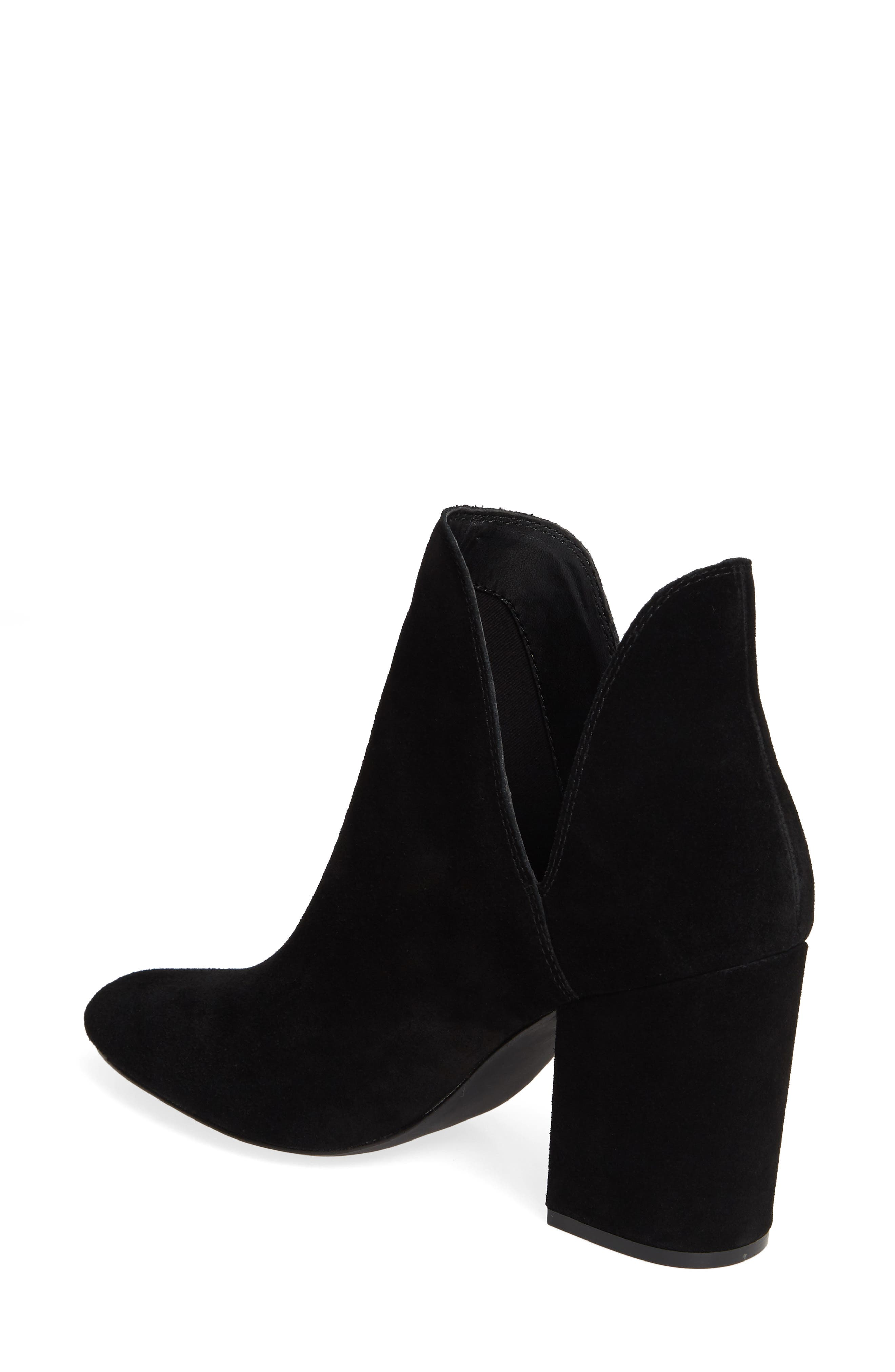 STEVE MADDEN, Rookie Bootie, Alternate thumbnail 2, color, BLACK SUEDE