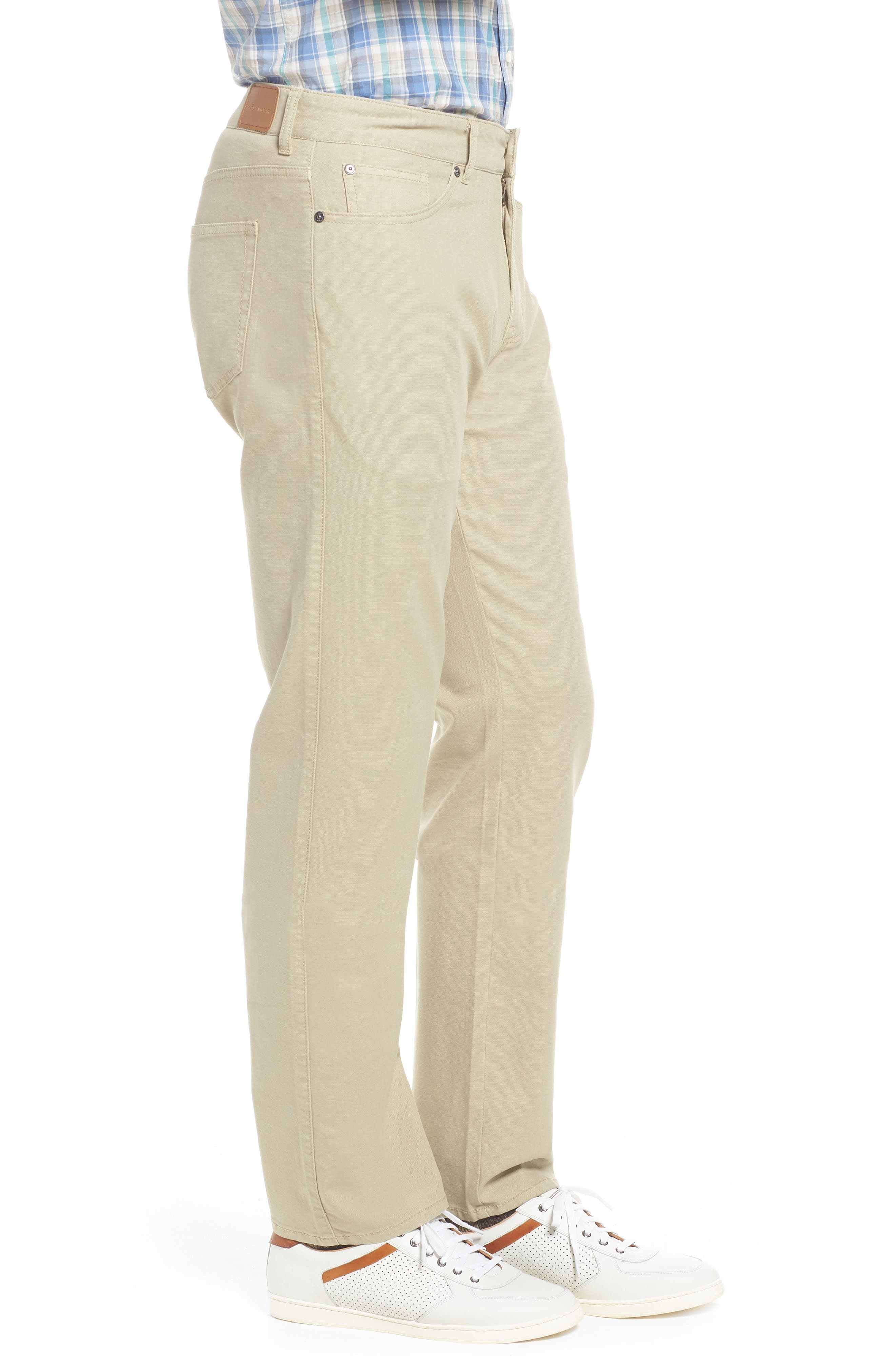 PETER MILLAR, Crown Vintage Canvas Pants, Alternate thumbnail 4, color, KHAKI