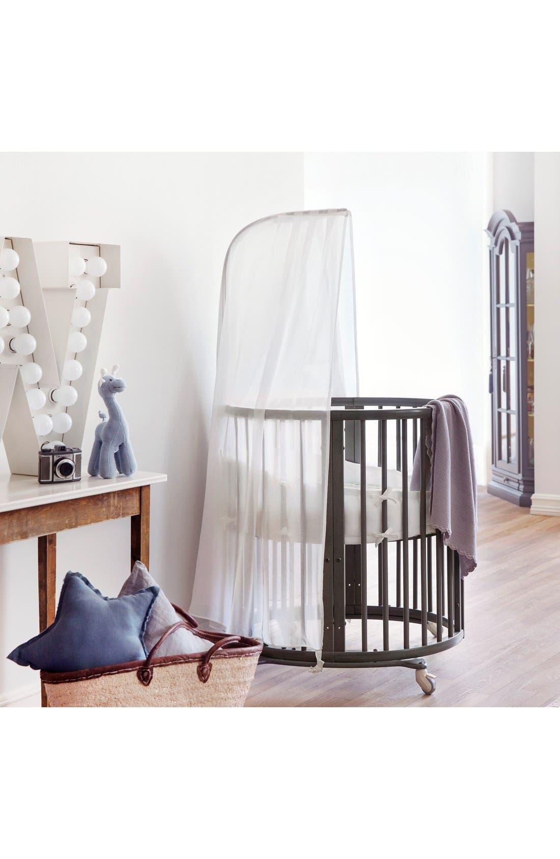 STOKKE, Sleepi Mini Crib, Drape Rod & Mattress Bundle, Alternate thumbnail 2, color, 030