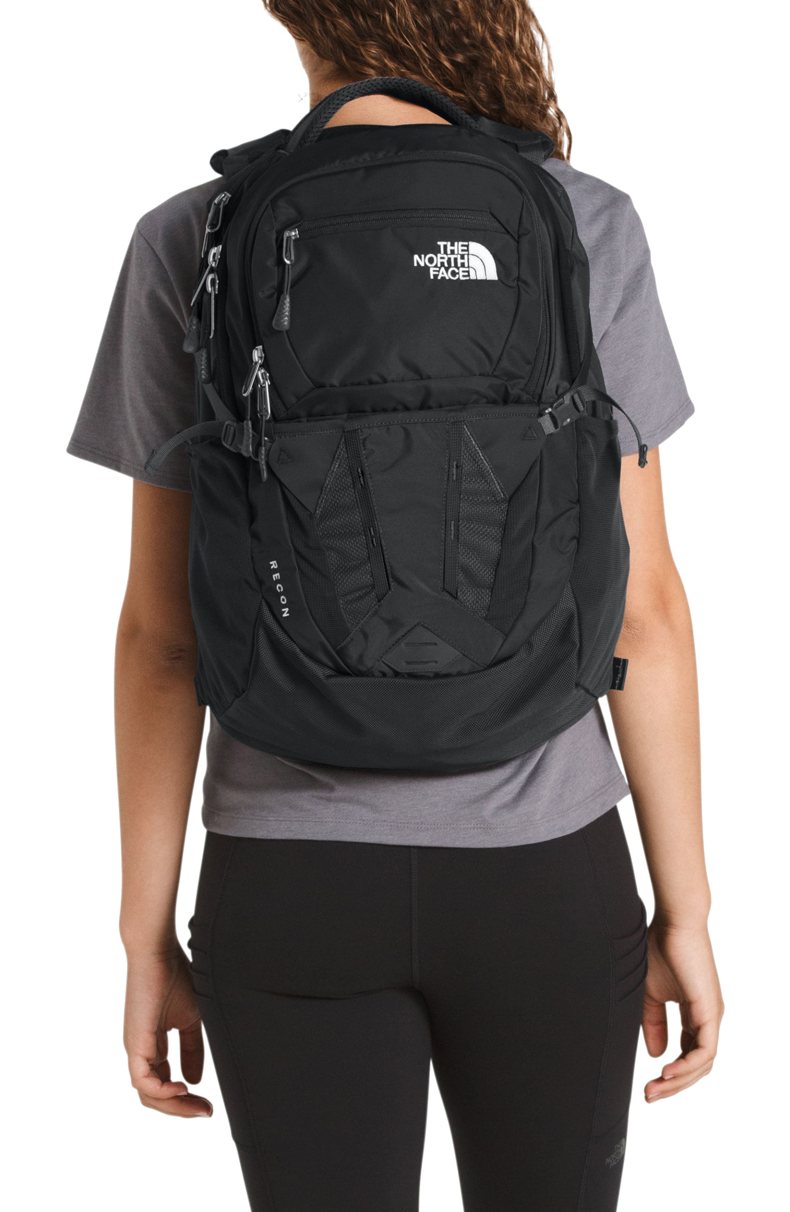THE NORTH FACE, Recon Backpack, Alternate thumbnail 2, color, TNF BLACK