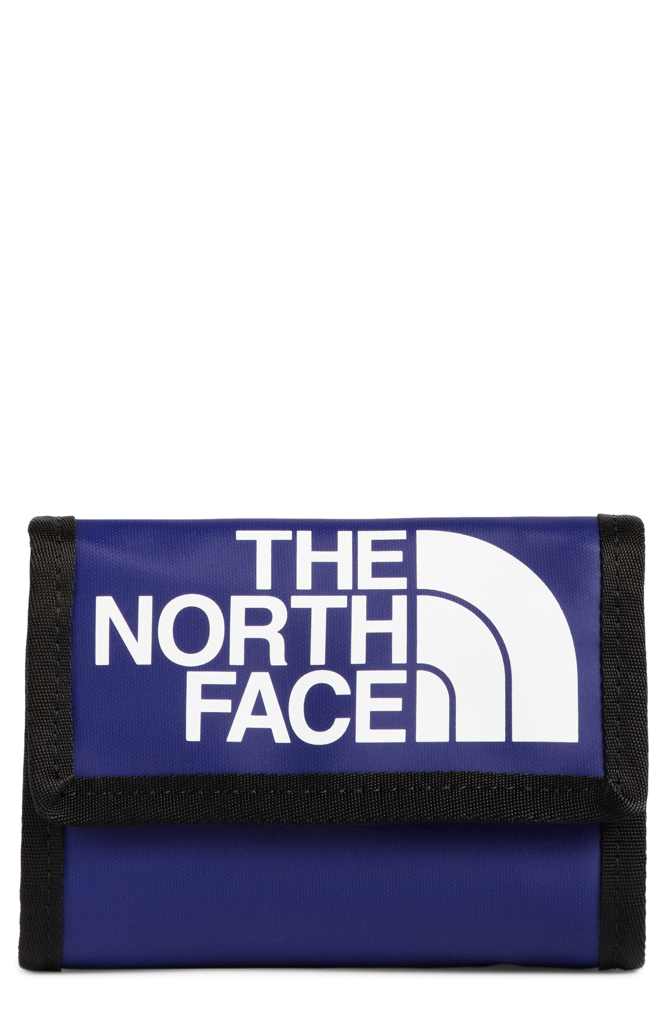 THE NORTH FACE, Base Camp Wallet, Main thumbnail 1, color, AZTEC BLUE/TNF BLACK