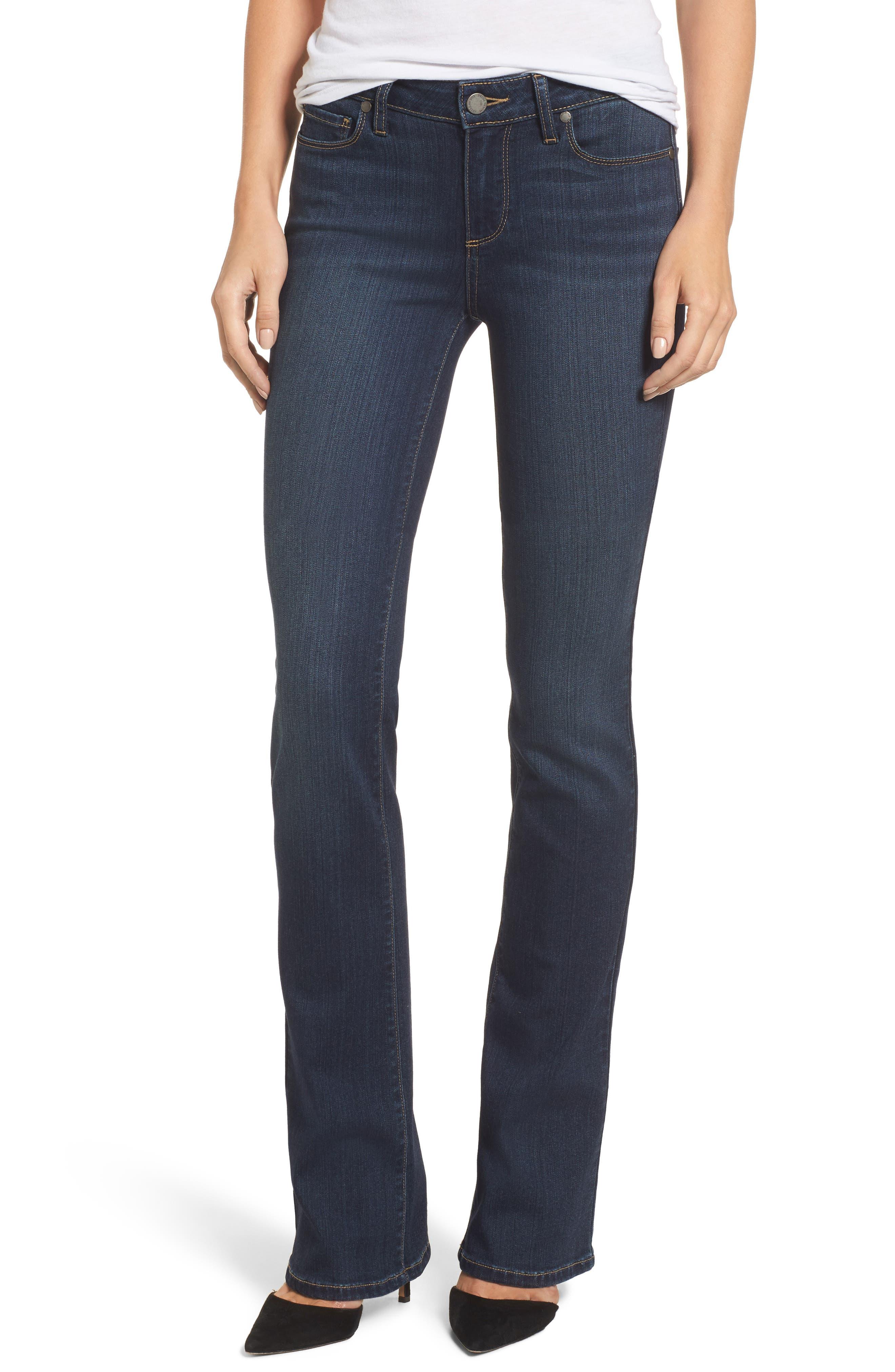 PAIGE Transcend - Manhattan Bootcut Jeans, Main, color, NOTTINGHAM