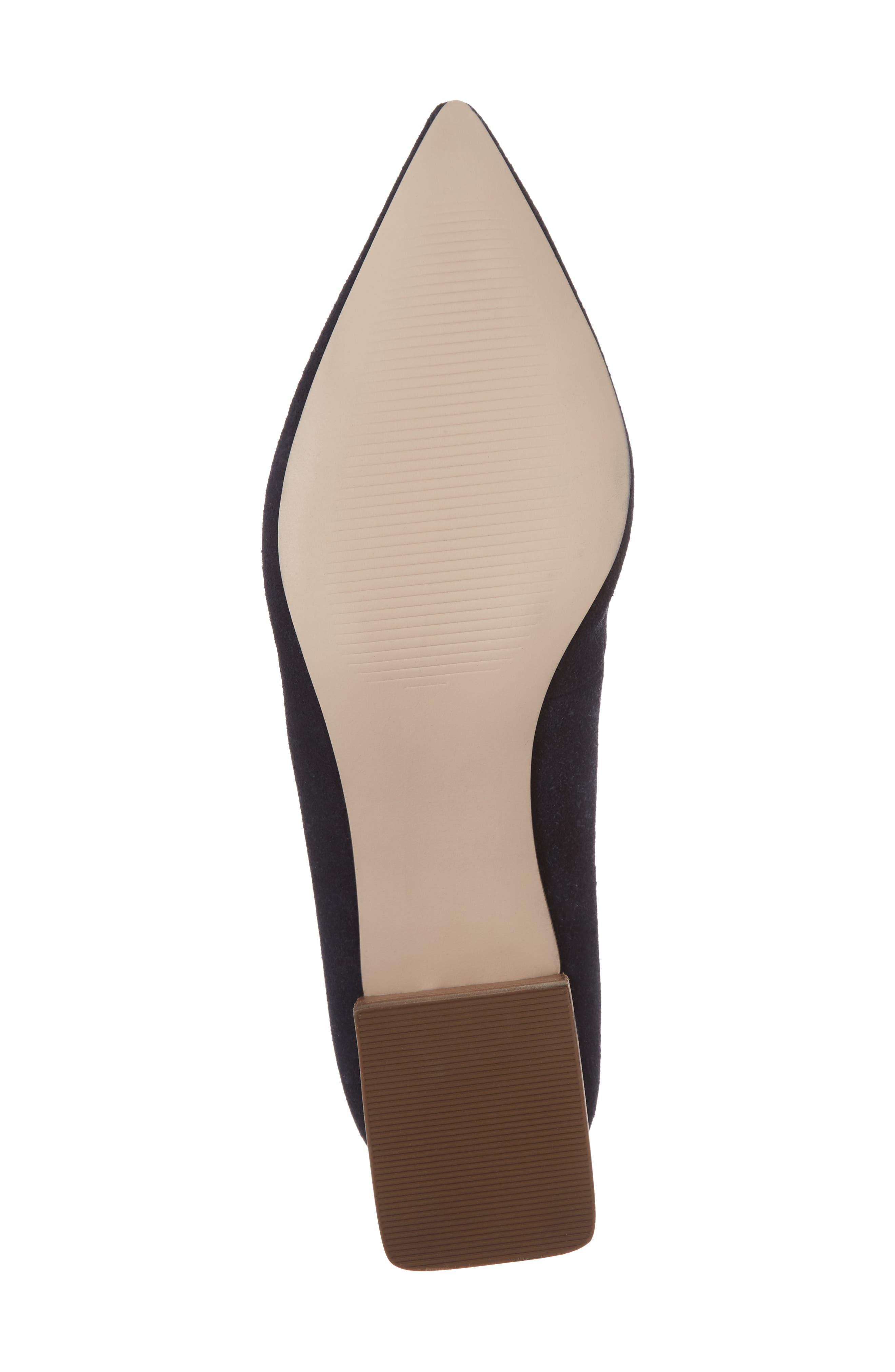 SOLE SOCIETY, Mavis Flare Heel Loafer, Alternate thumbnail 6, color, OMBRE BLUE