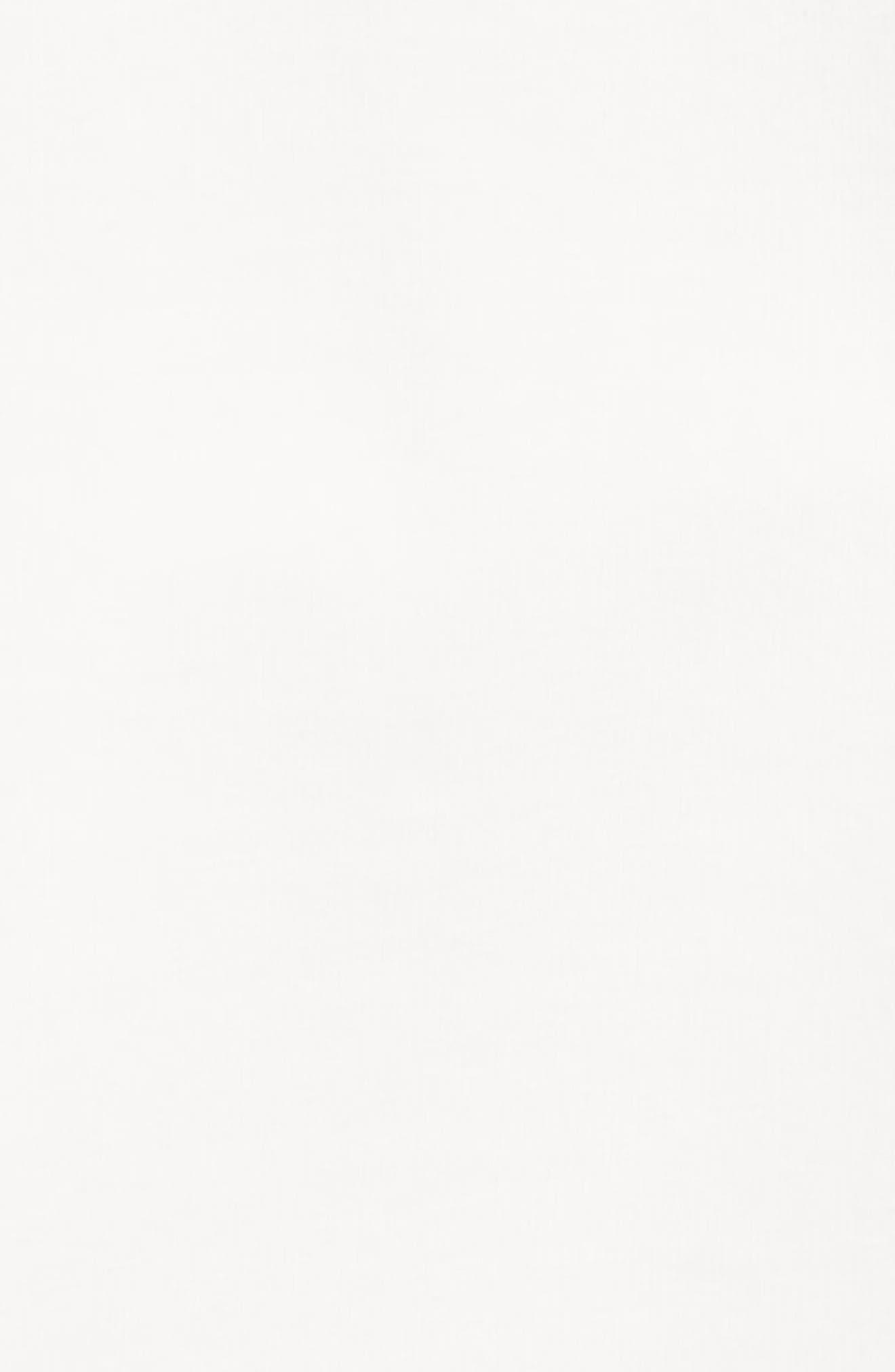 VERSACE, Logo Patch Sleeveless Dress, Alternate thumbnail 3, color, WHITE GOLD