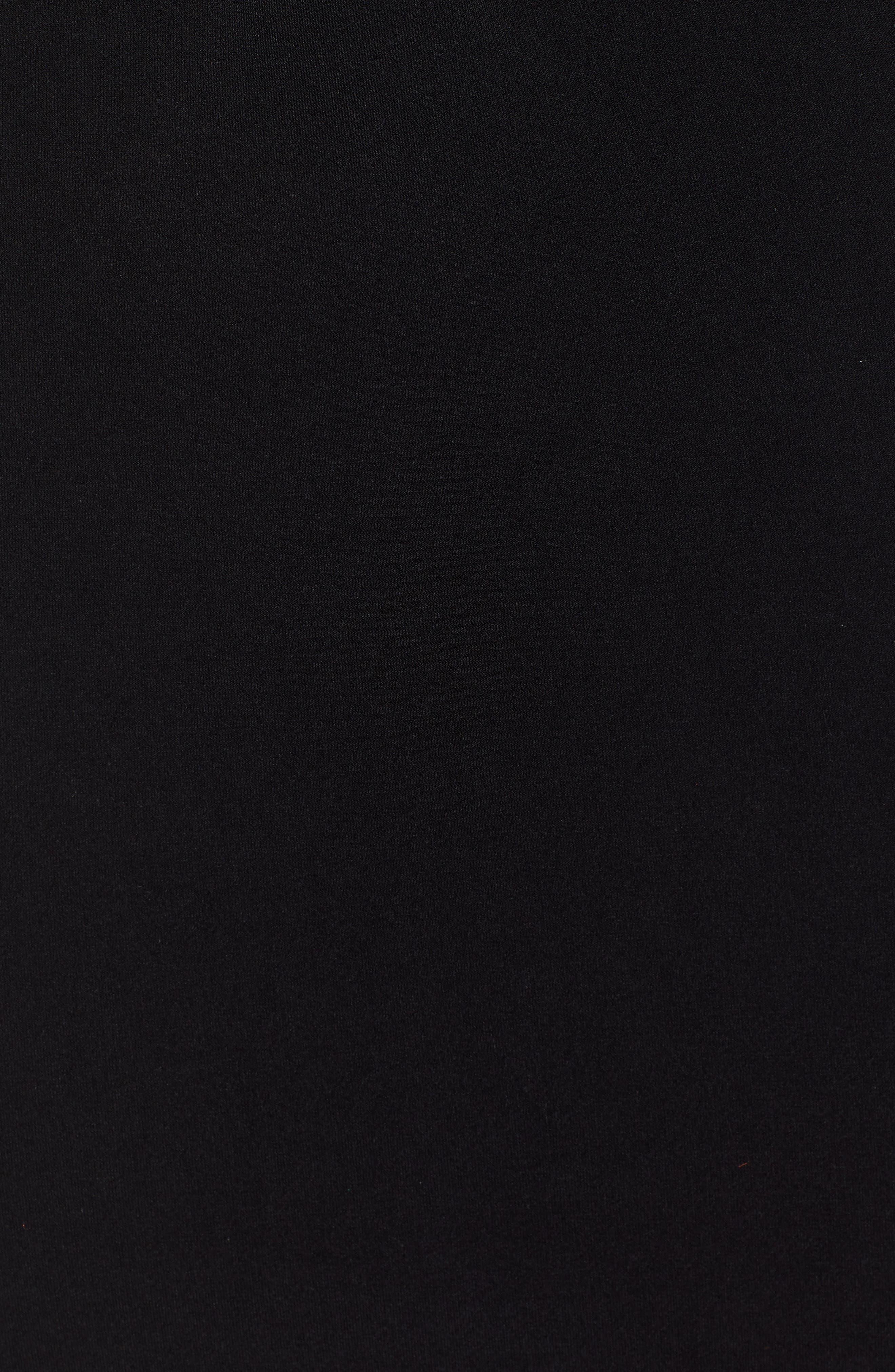 LEITH, Mini Body-Con Skirt, Alternate thumbnail 5, color, BLACK