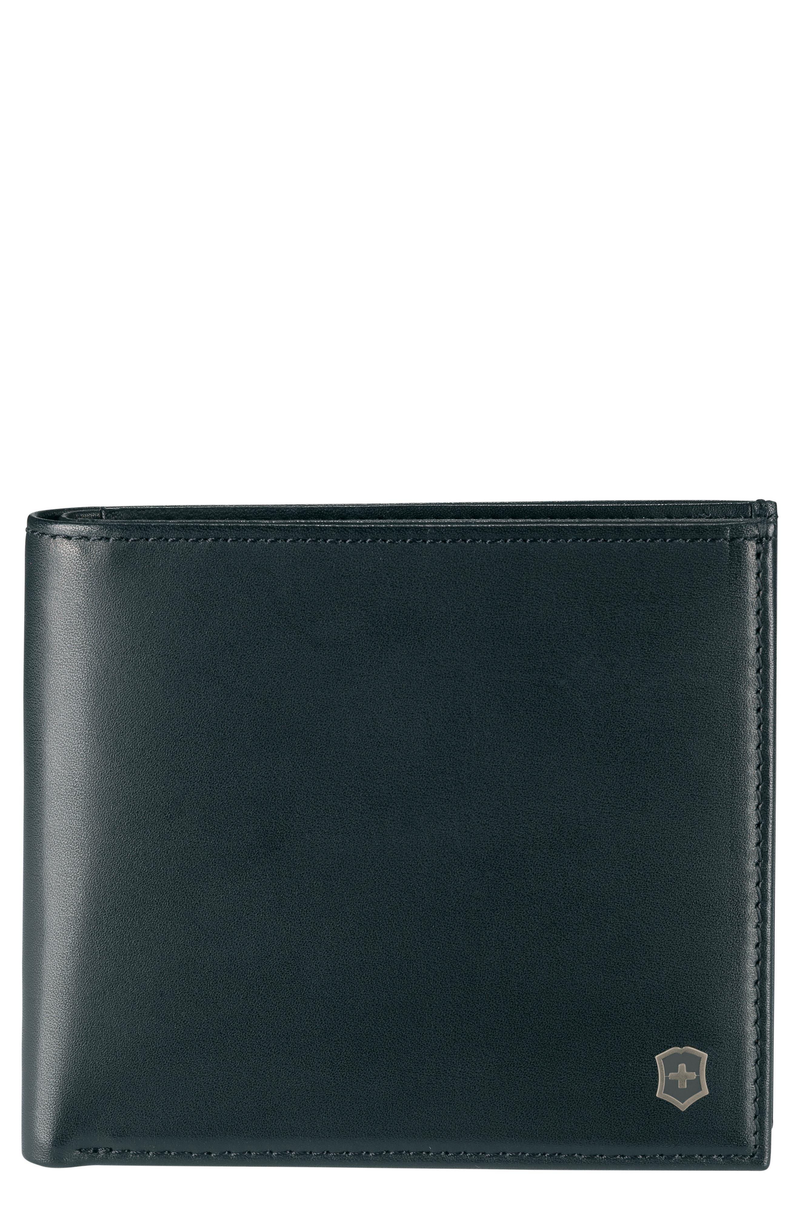 VICTORINOX SWISS ARMY<SUP>®</SUP> Altius Edge Pythagoras Wallet, Main, color, BLACK