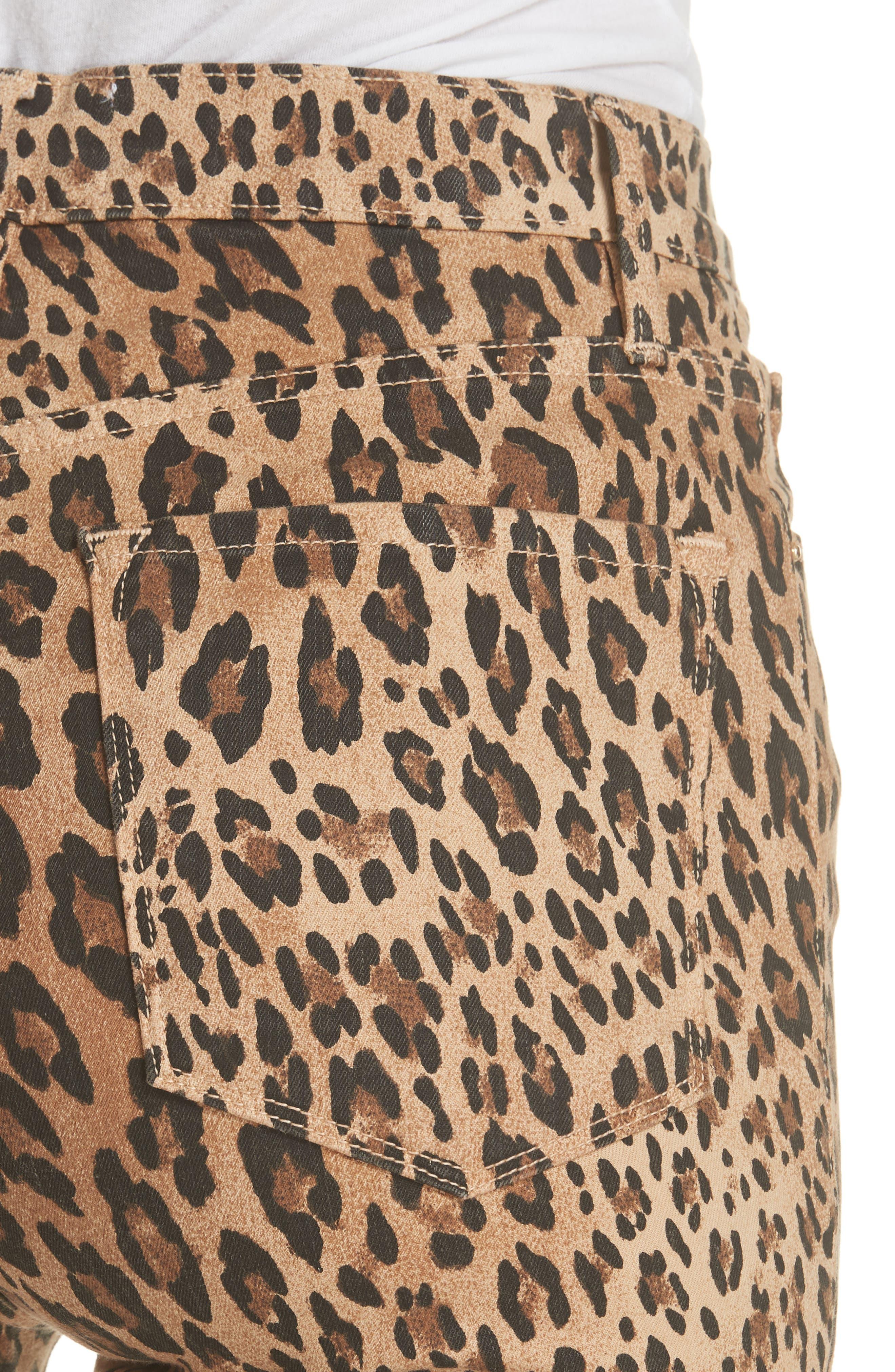 FRAME, Ali High Waist Cigarette Skinny Jeans, Alternate thumbnail 4, color, CAMEL MULTI