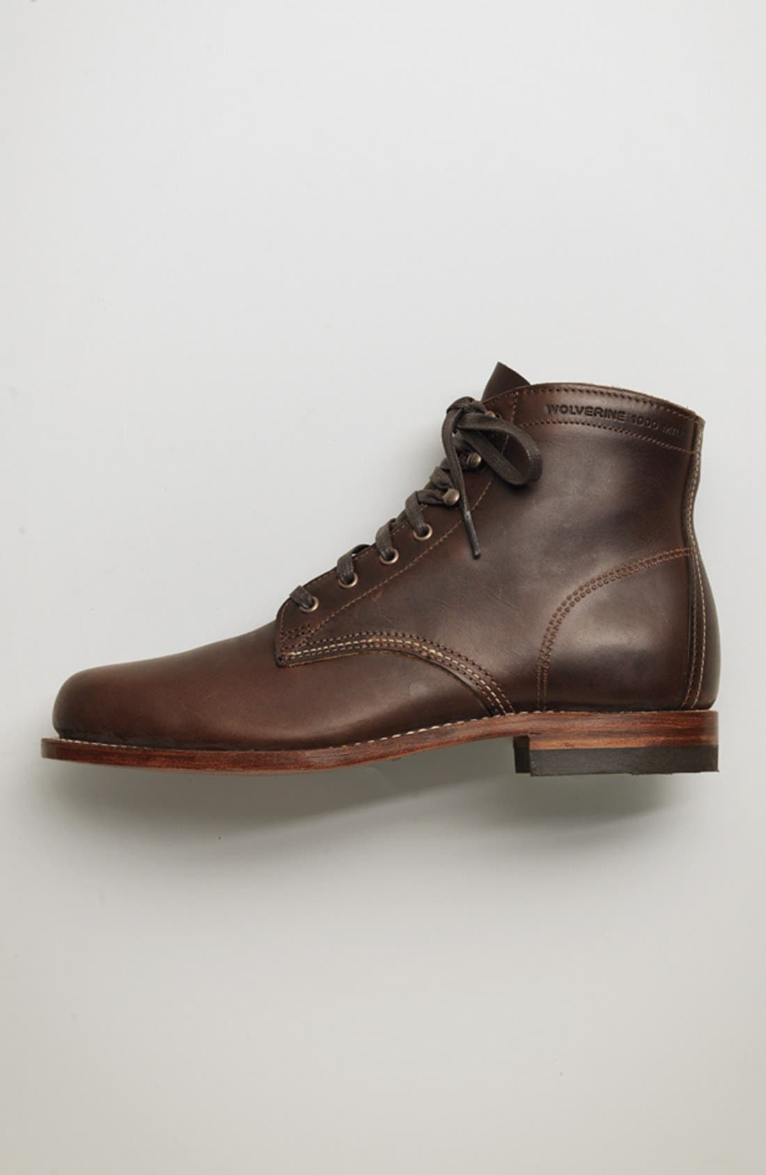WOLVERINE, '1000 Mile' Plain Toe Boot, Alternate thumbnail 7, color, COGNAC