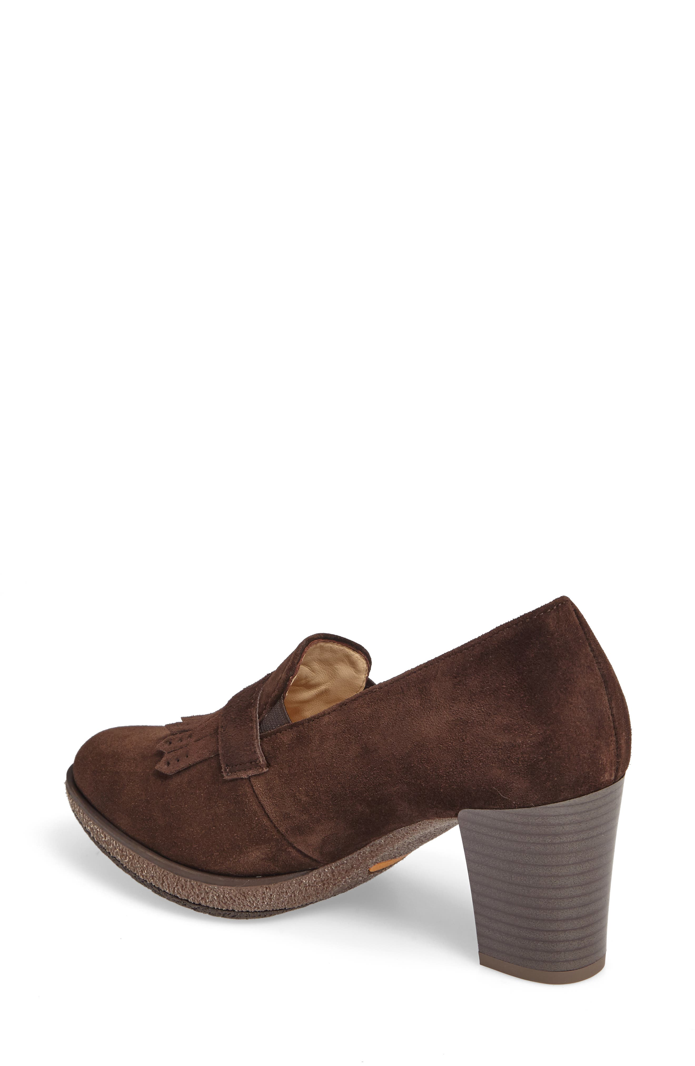 ARA, Becky Loafer Pump, Alternate thumbnail 2, color, BROWN SUEDE