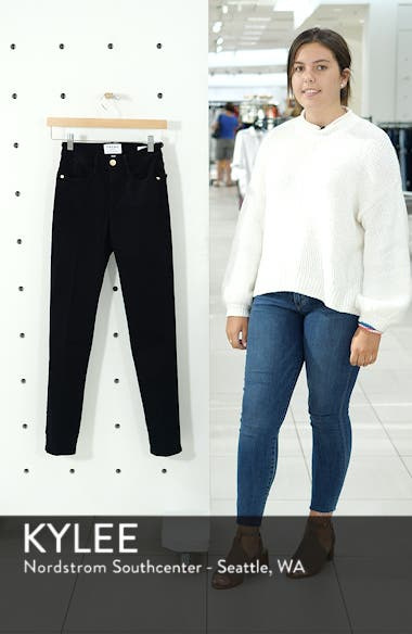 'Le High Straight' High Rise Crop Jeans, sales video thumbnail