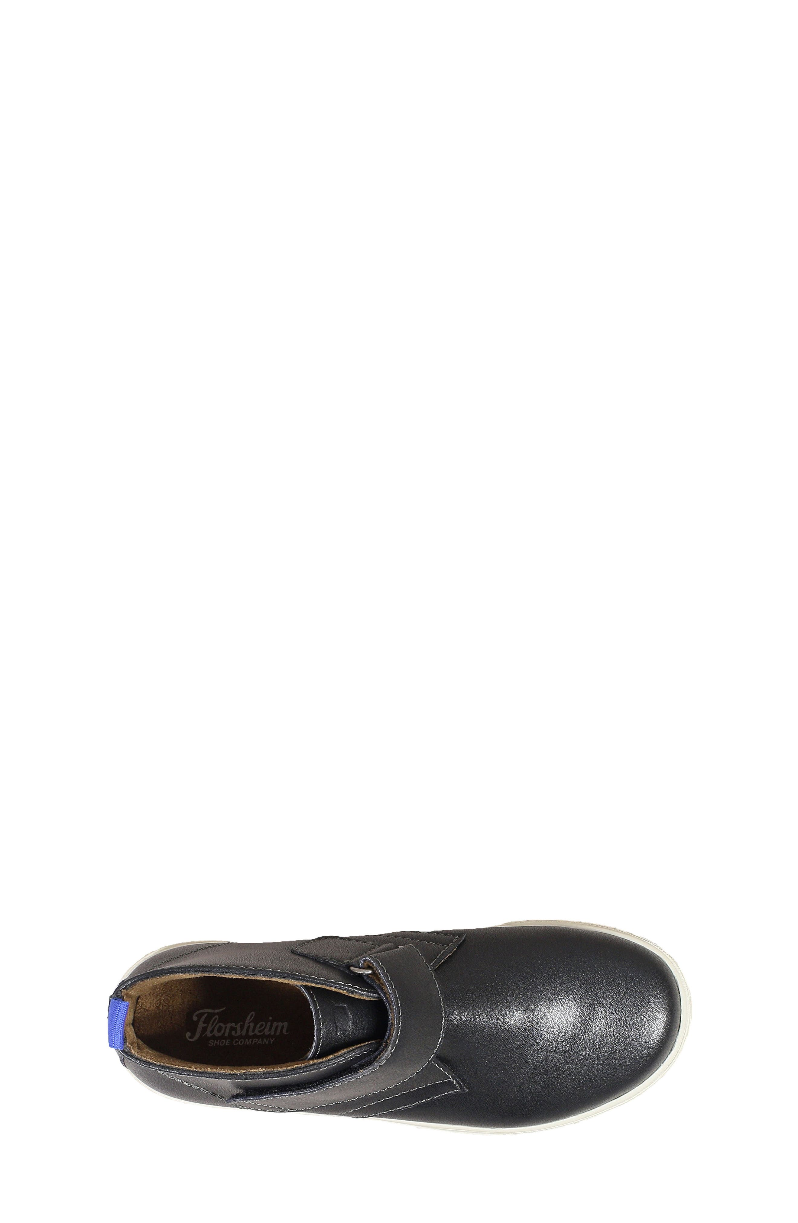 FLORSHEIM, Curb Chukka Boot, Alternate thumbnail 4, color, BLACK LEATHER