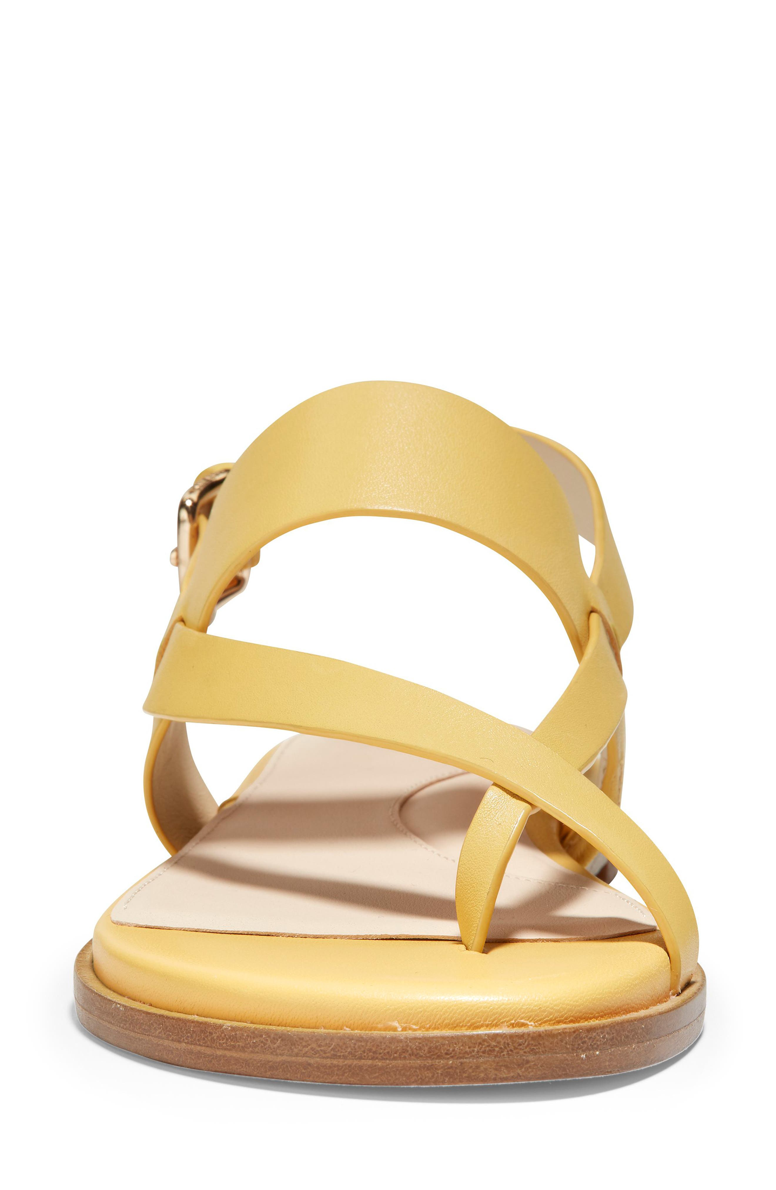COLE HAAN, Anica Sandal, Alternate thumbnail 4, color, SUNSET GOLD LEATHER