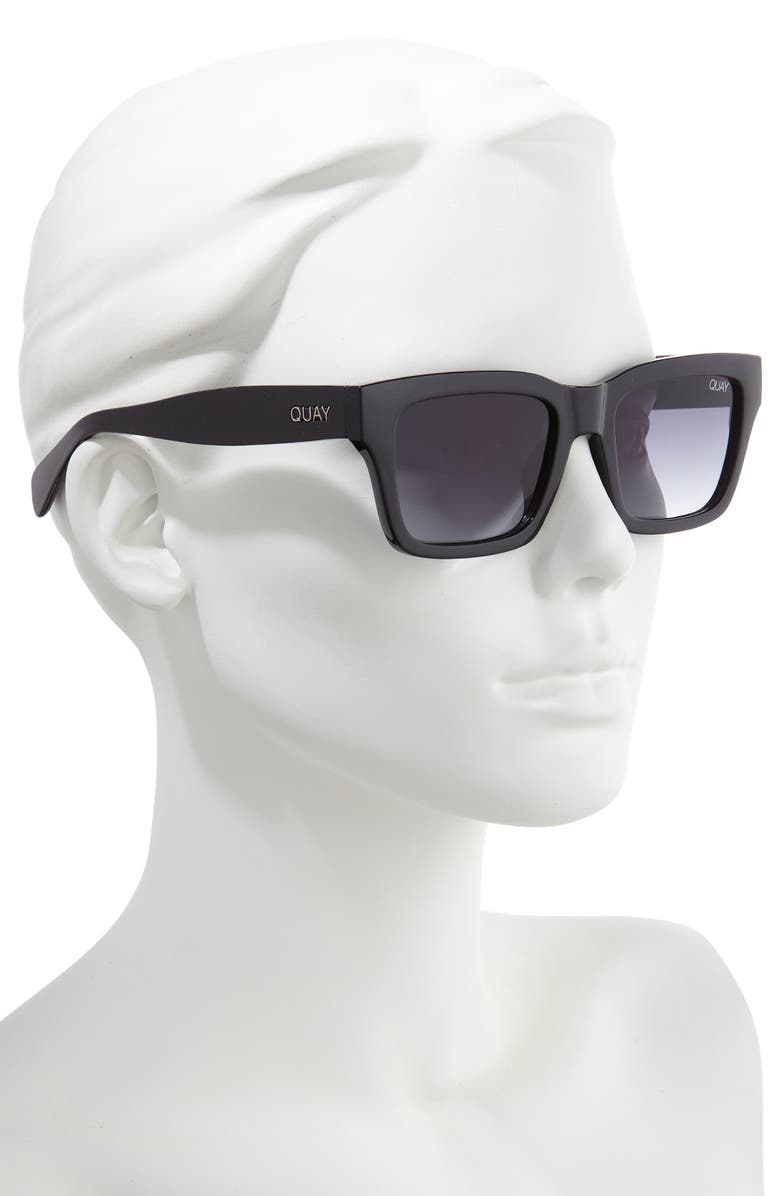 cced96bc9d3c0 Quay In Control 44Mm Rectangle Sunglasses - Black  Smoke