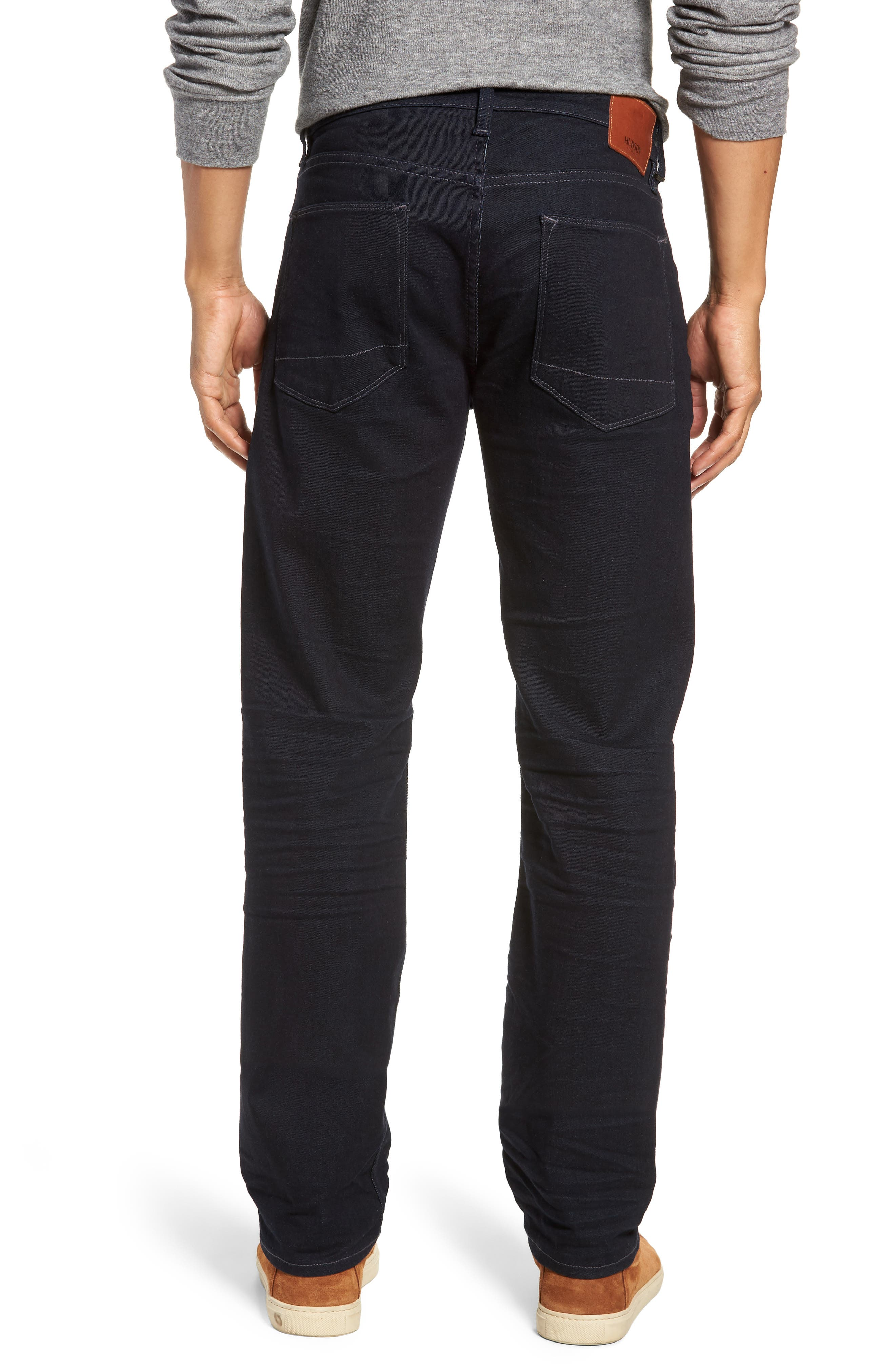 HUDSON JEANS, Byron Slim Straight Leg Jeans, Alternate thumbnail 2, color, TUDOR