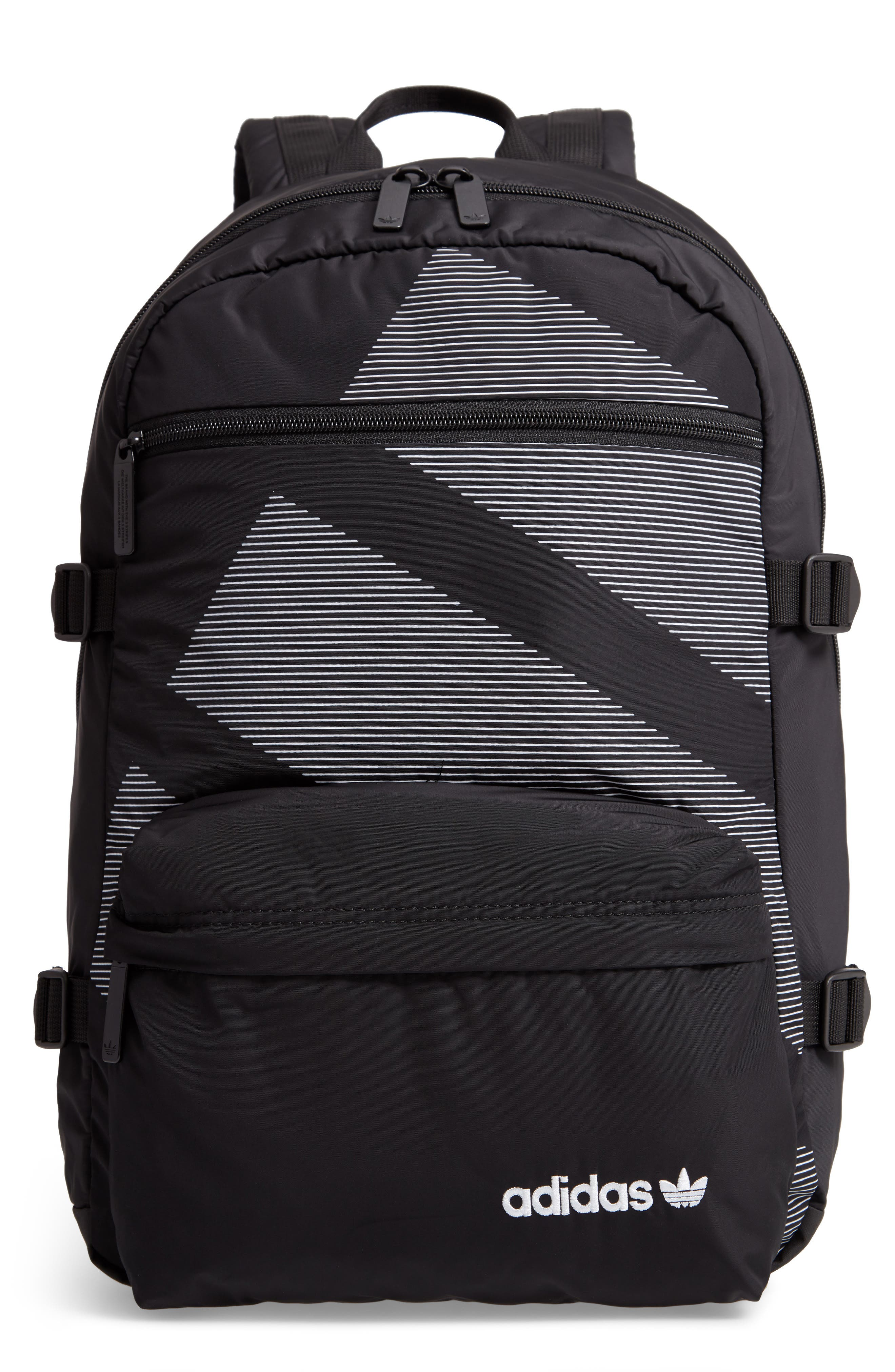 ADIDAS ORIGINALS, EQT Backpack, Main thumbnail 1, color, BLACK/ WHITE/ SUB GREEN