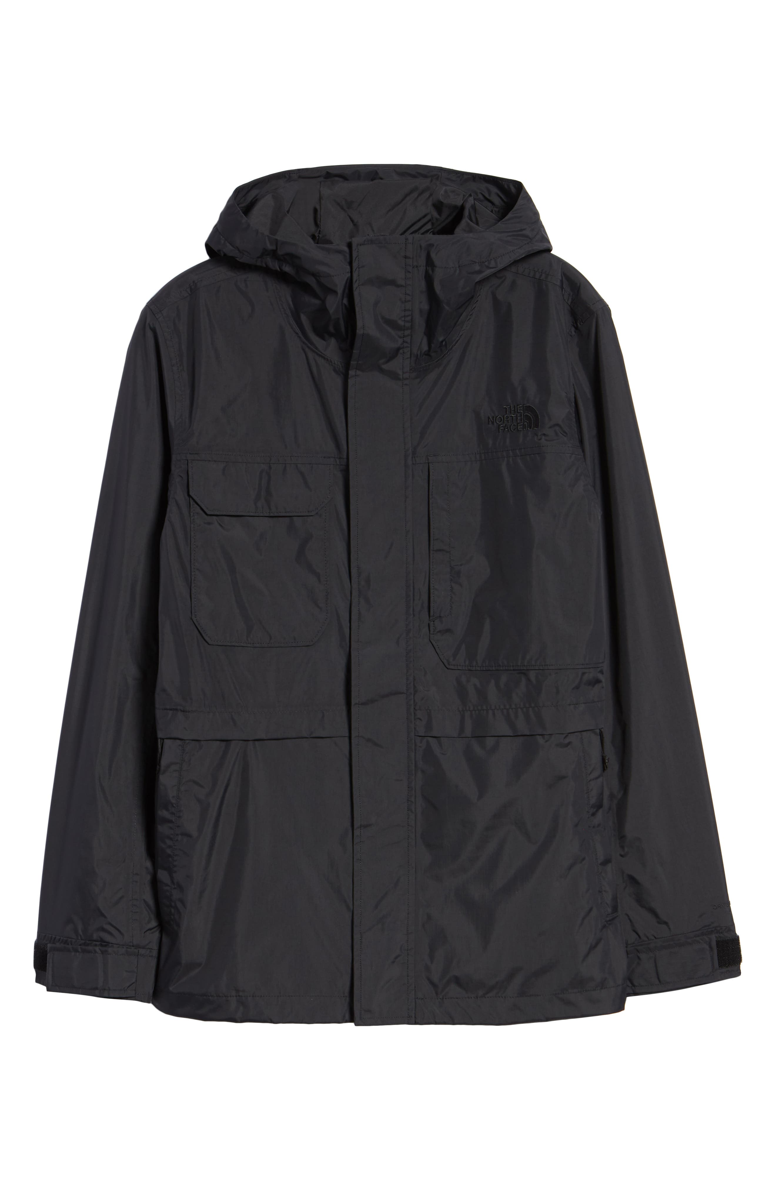 THE NORTH FACE, Zoomie Rain Jacket, Alternate thumbnail 6, color, 001