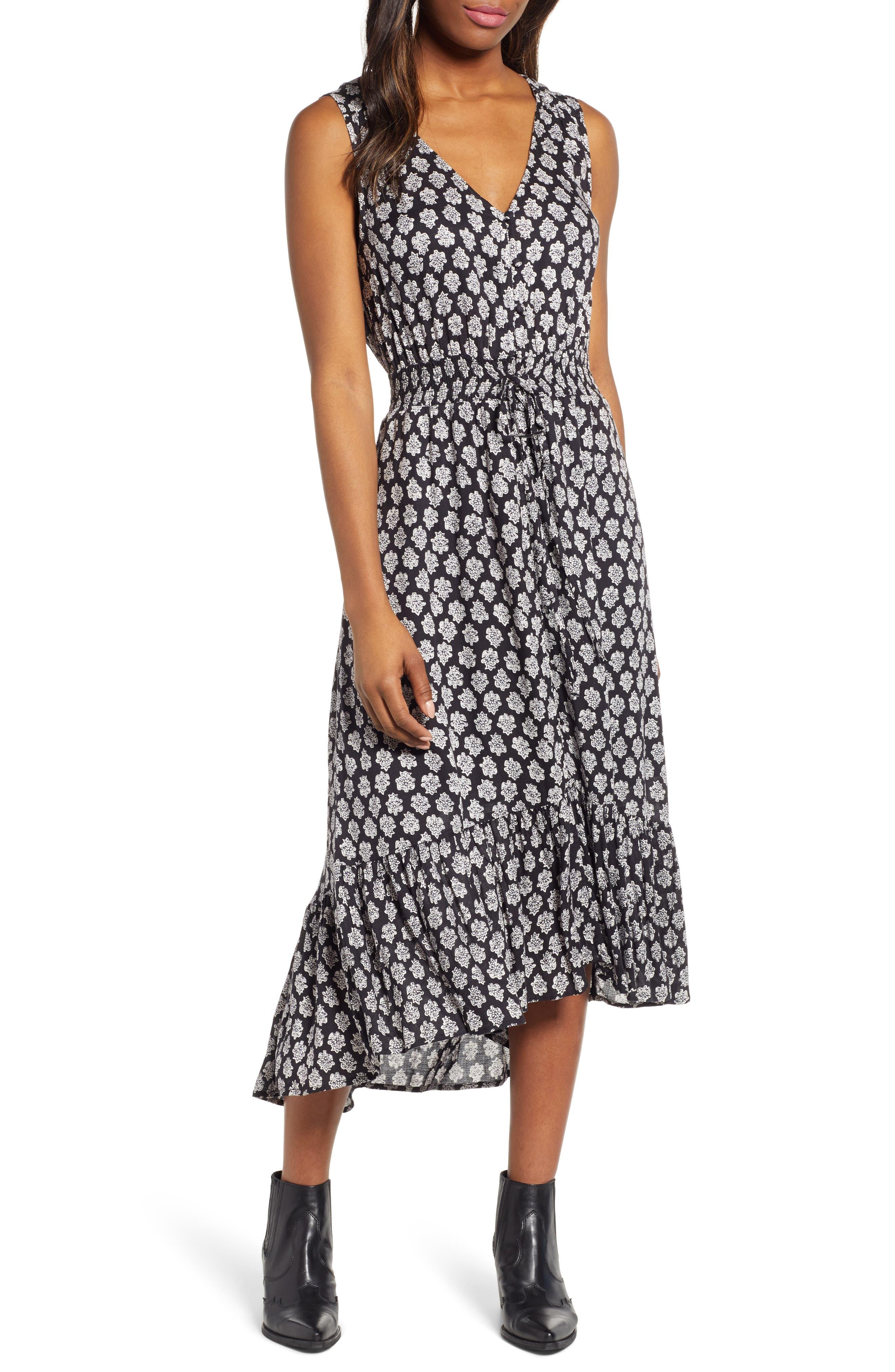 2ac6d95f9a9 Lucky Brand Felice Print Midi Dress