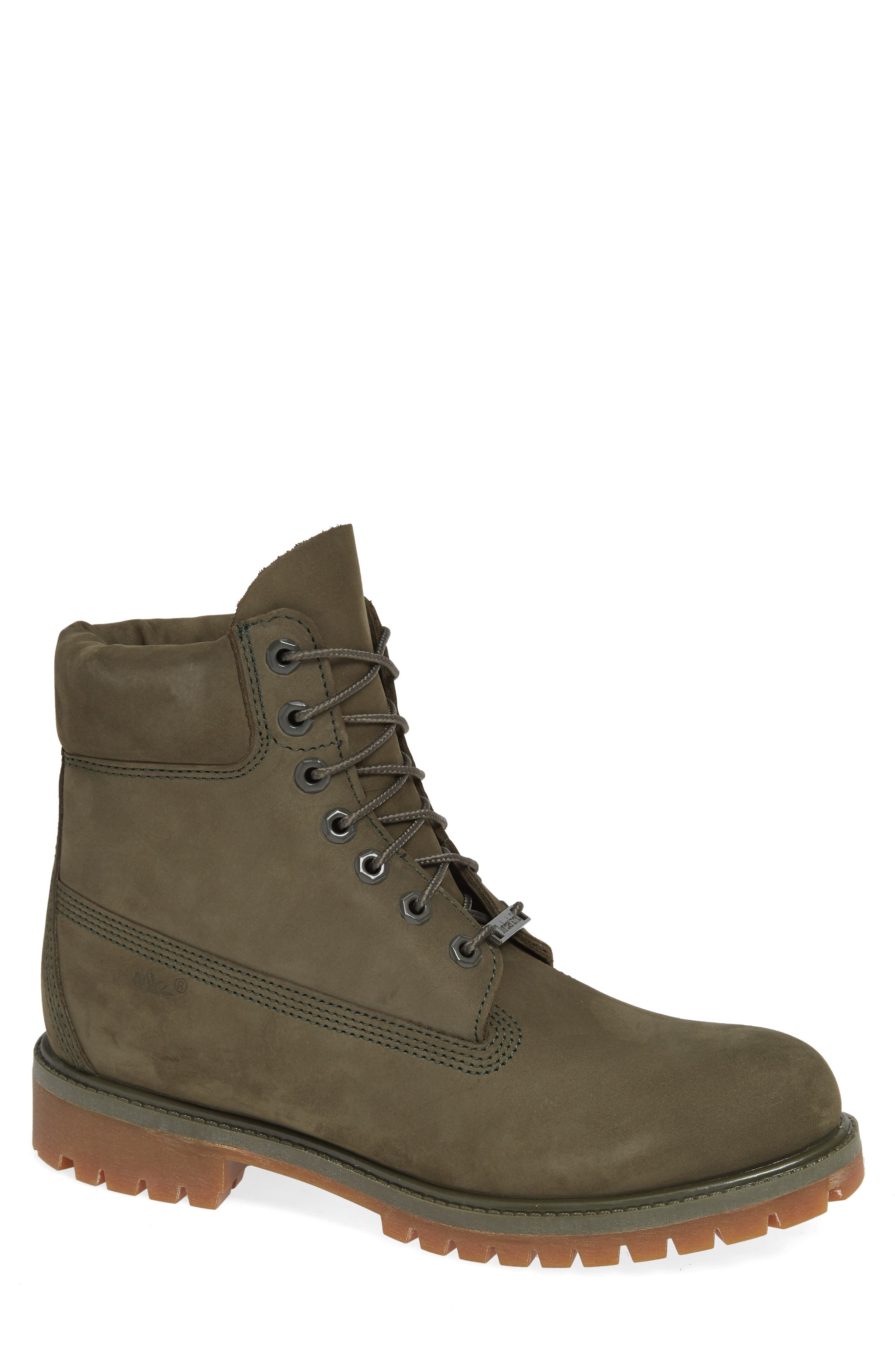 TIMBERLAND Six Inch Classic Waterproof Boots Series - Premium Waterproof Boot, Main, color, GRAPE LEAF LEATHER