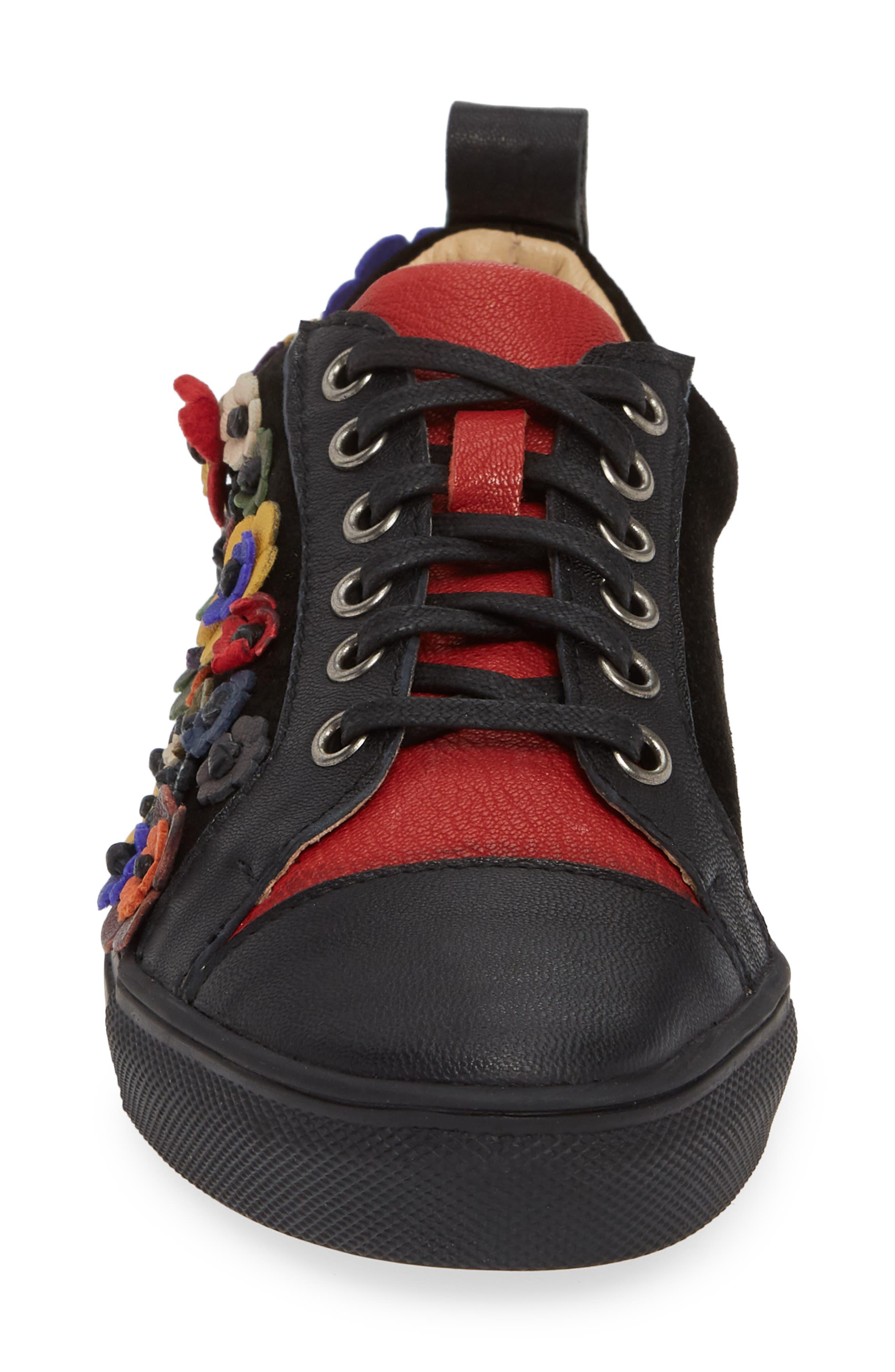 SHERIDAN MIA, Satyr Sneaker, Alternate thumbnail 4, color, BLACK LEATHER
