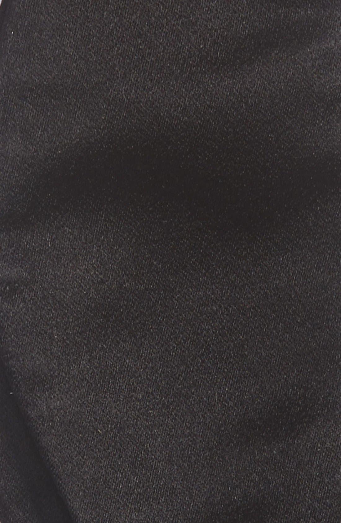 GITMAN, Solid Silk Bow Tie, Alternate thumbnail 3, color, 001