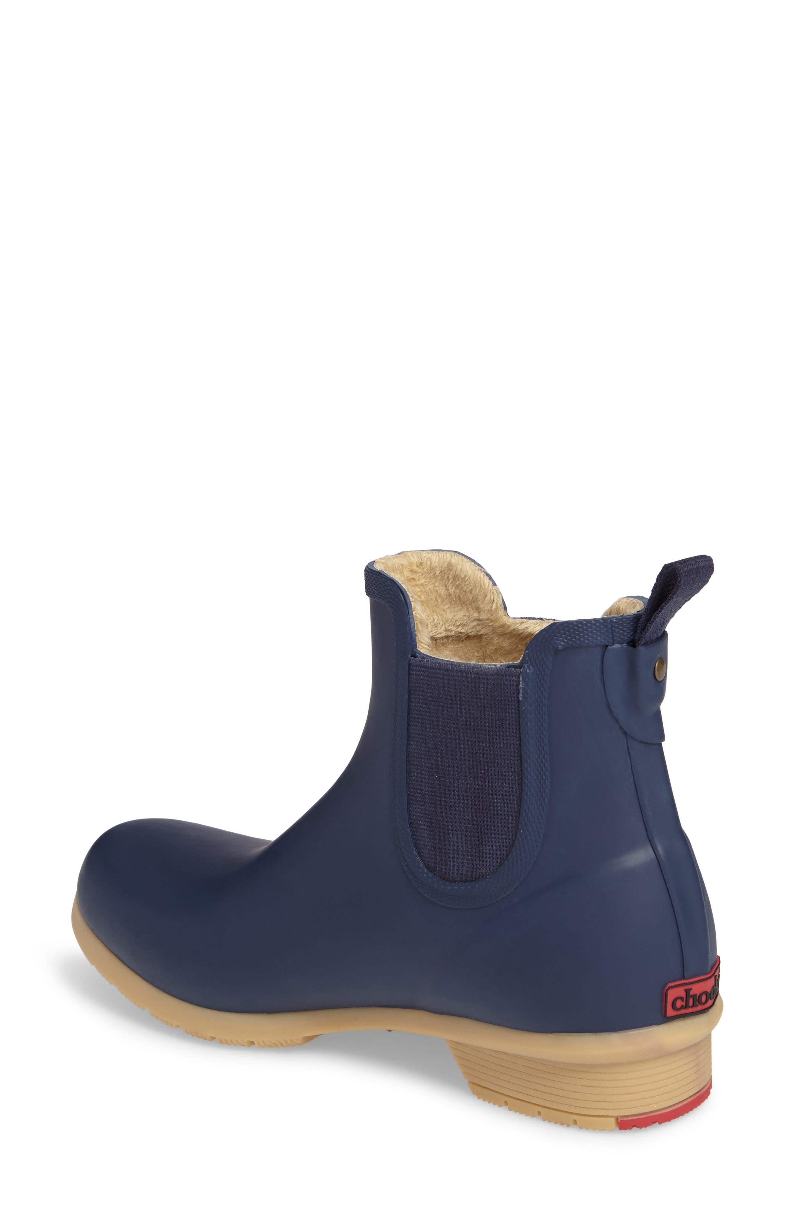 CHOOKA, Bainbridge Chelsea Rain Boot, Alternate thumbnail 2, color, NAVY