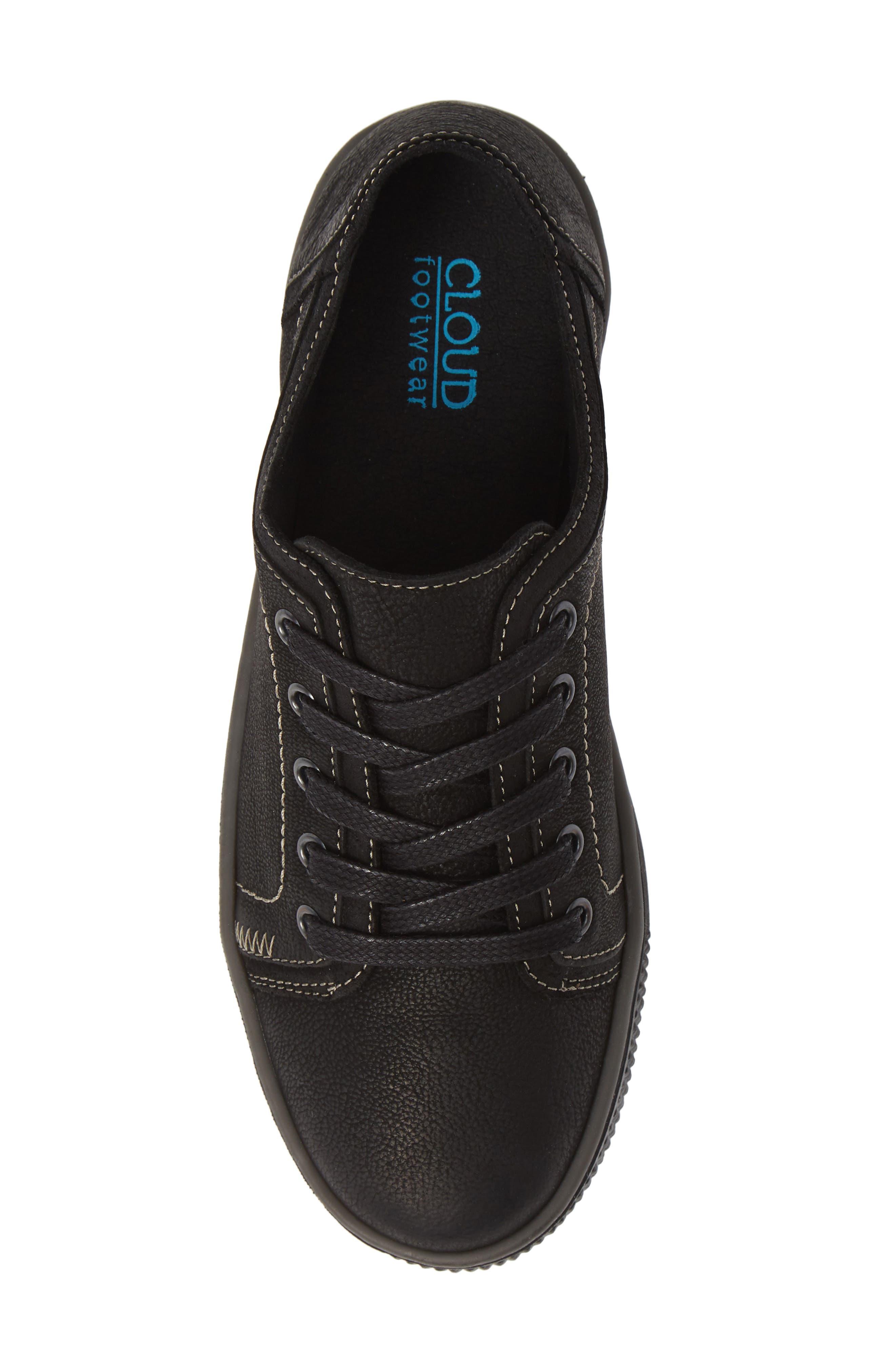 CLOUD, Nagano Low Top Sneaker, Alternate thumbnail 5, color, 001