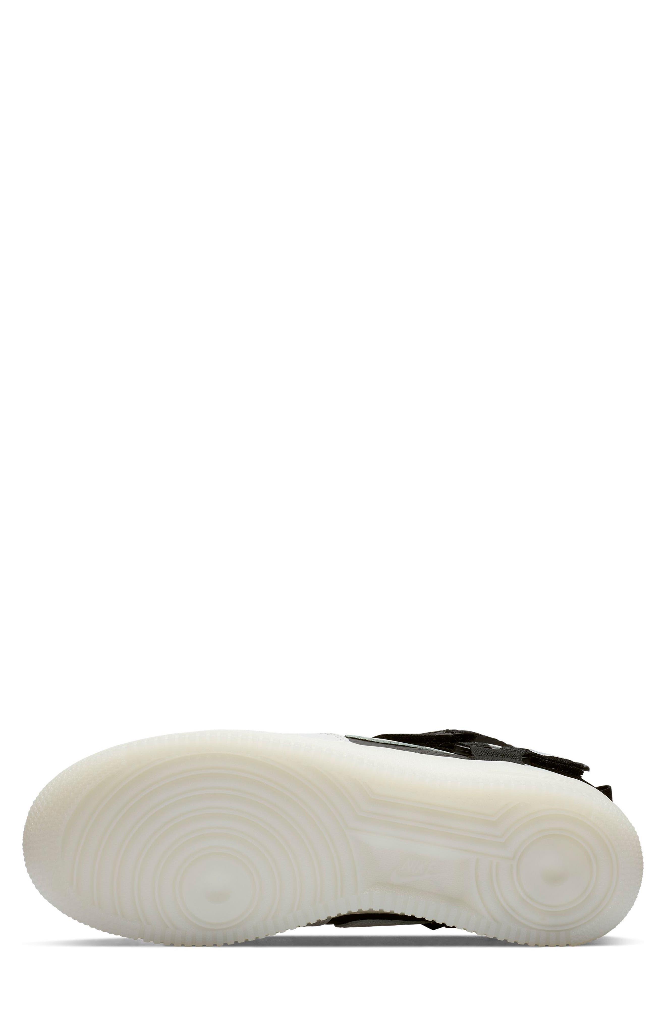 NIKE, Air Force 1 Utility Mid Sneaker, Alternate thumbnail 5, color, OFF WHITE/ BLACK/ WHITE
