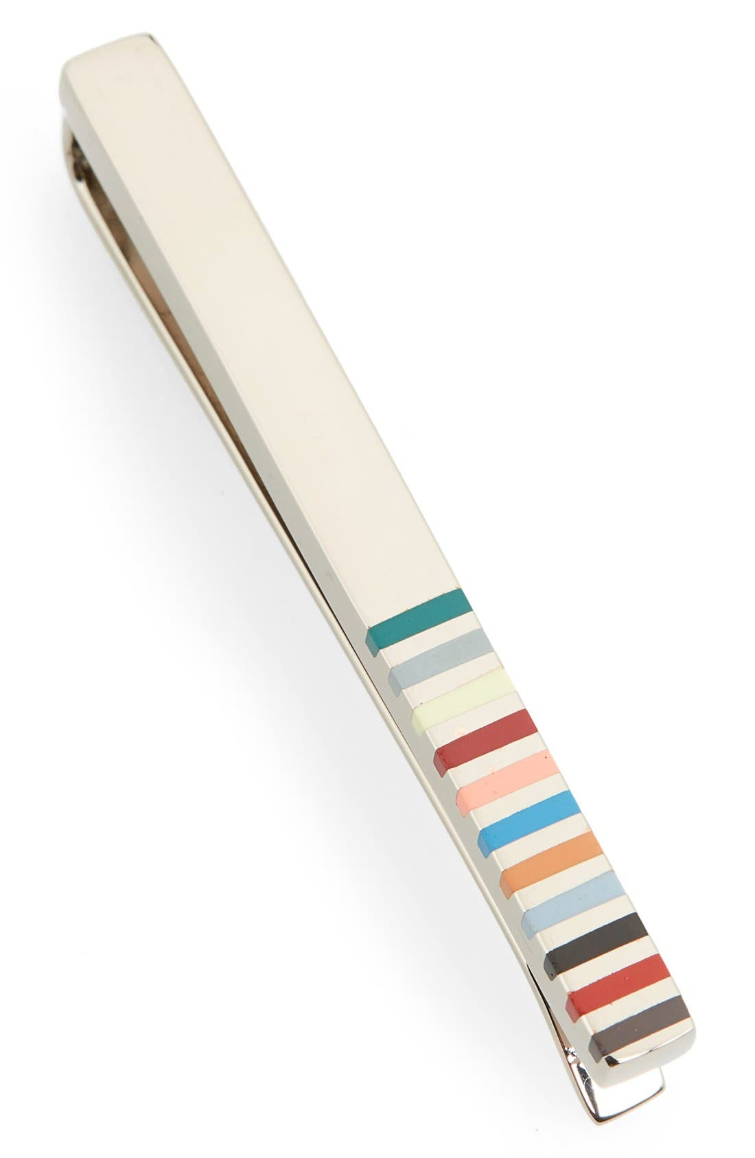 PAUL SMITH, Stripe Tie Bar, Main thumbnail 1, color, 049