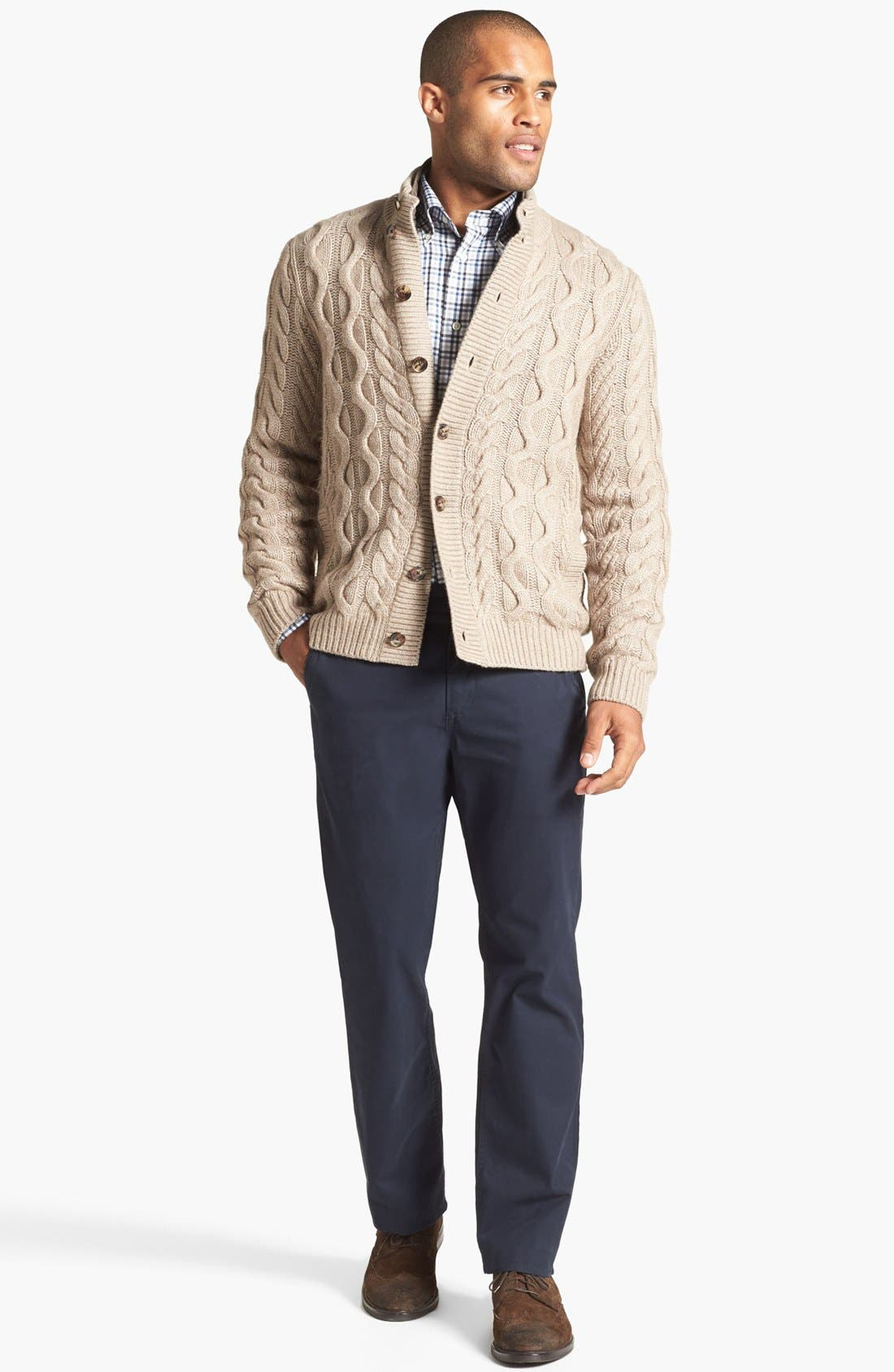 BONOBOS, Straight Fit Washed Chinos, Alternate thumbnail 10, color, JET BLUE