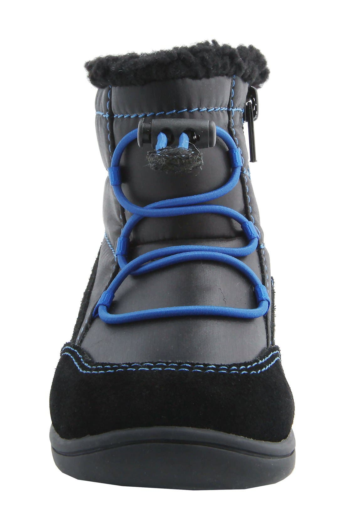 MOBILITY, Nina 'Yolie' Lace-Up Boot, Alternate thumbnail 2, color, BLACK