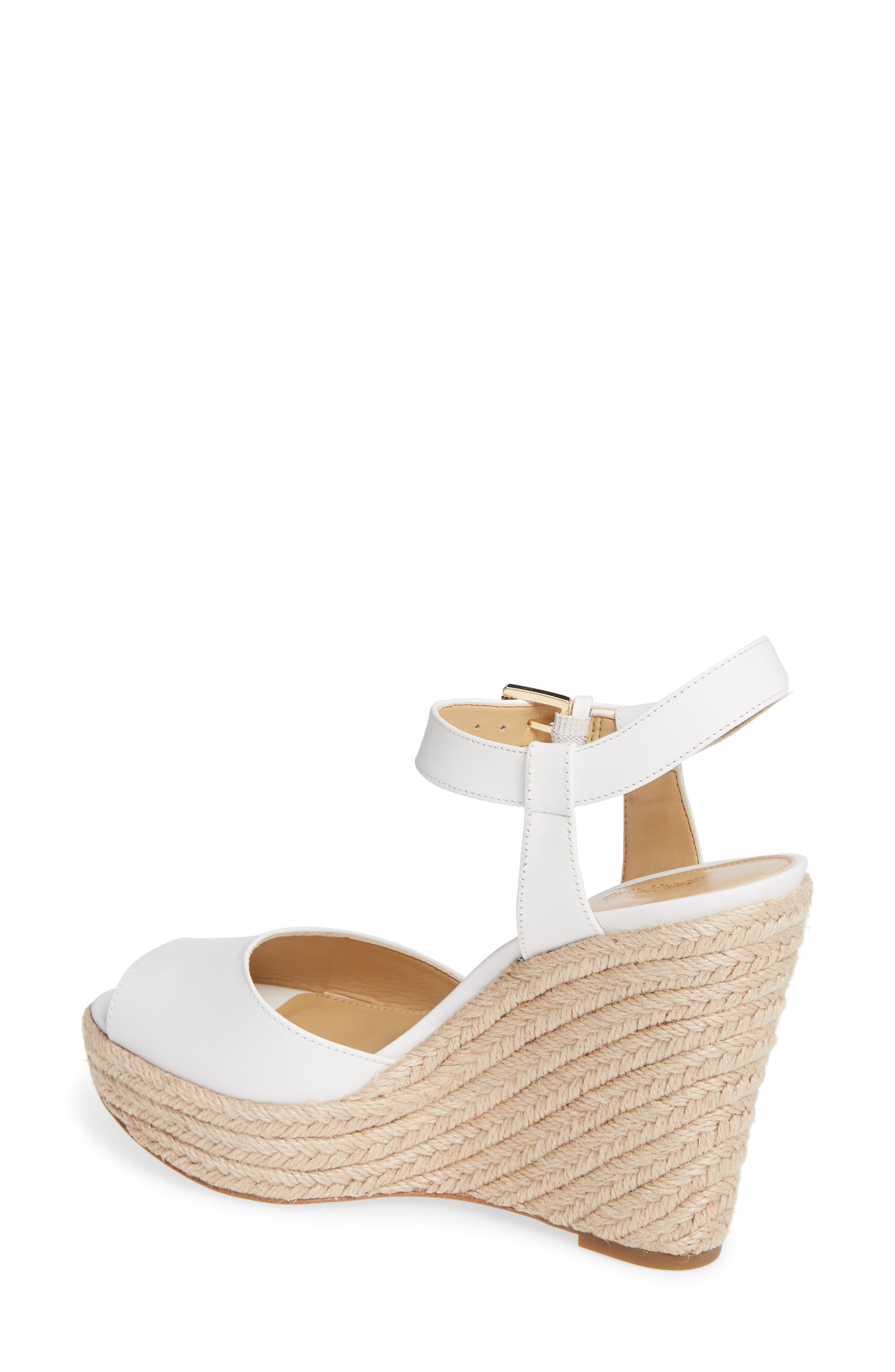 MICHAEL MICHAEL KORS, Carlyn Espadrille Wedge Sandal, Alternate thumbnail 2, color, 100
