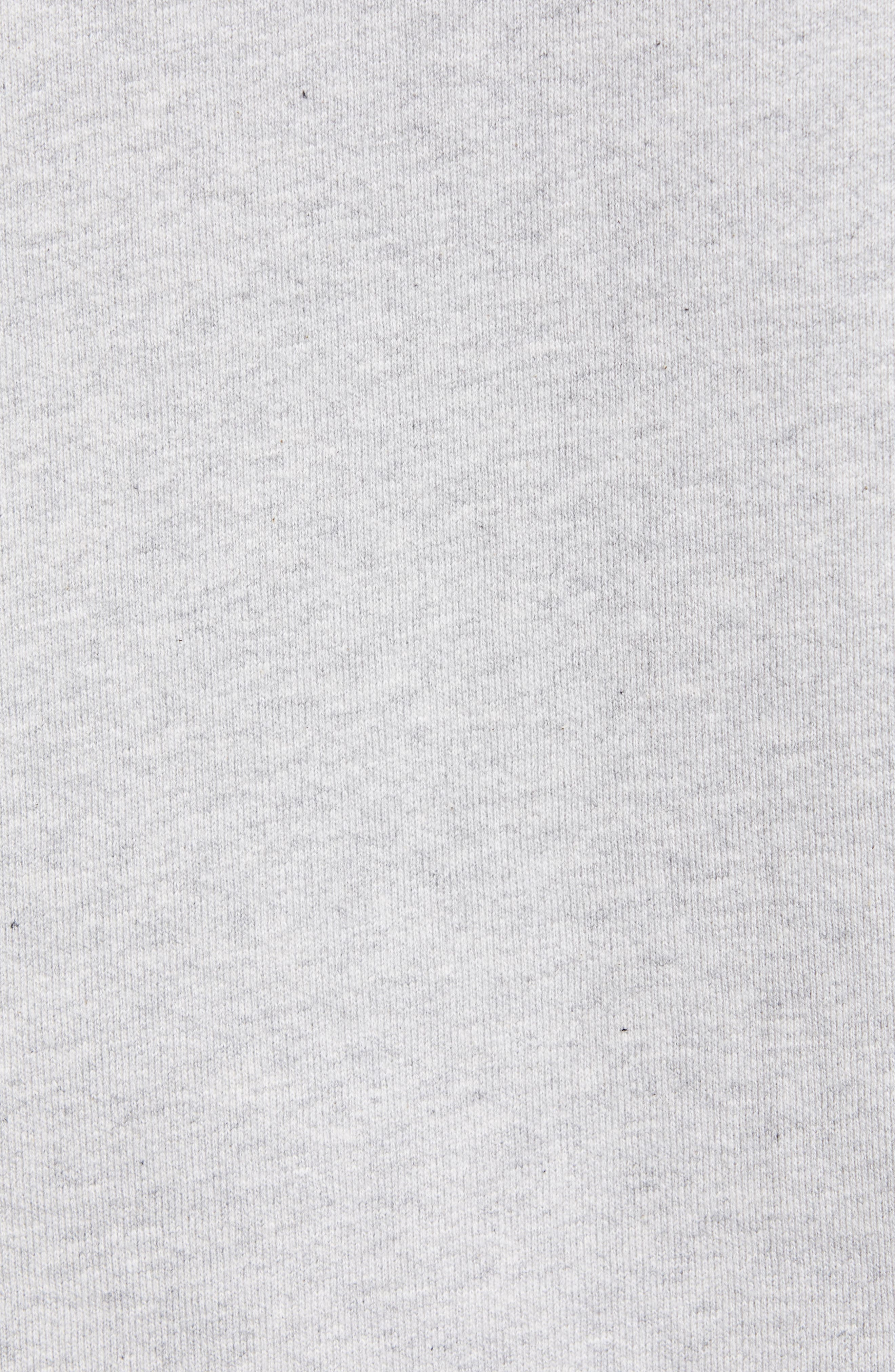 NORSE PROJECTS, Ketel Raglan Sweatshirt, Alternate thumbnail 5, color, LIGHT GREY MELANGE