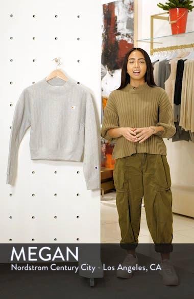 Mock Neck Reverse Panel Crop Sweatshirt, sales video thumbnail