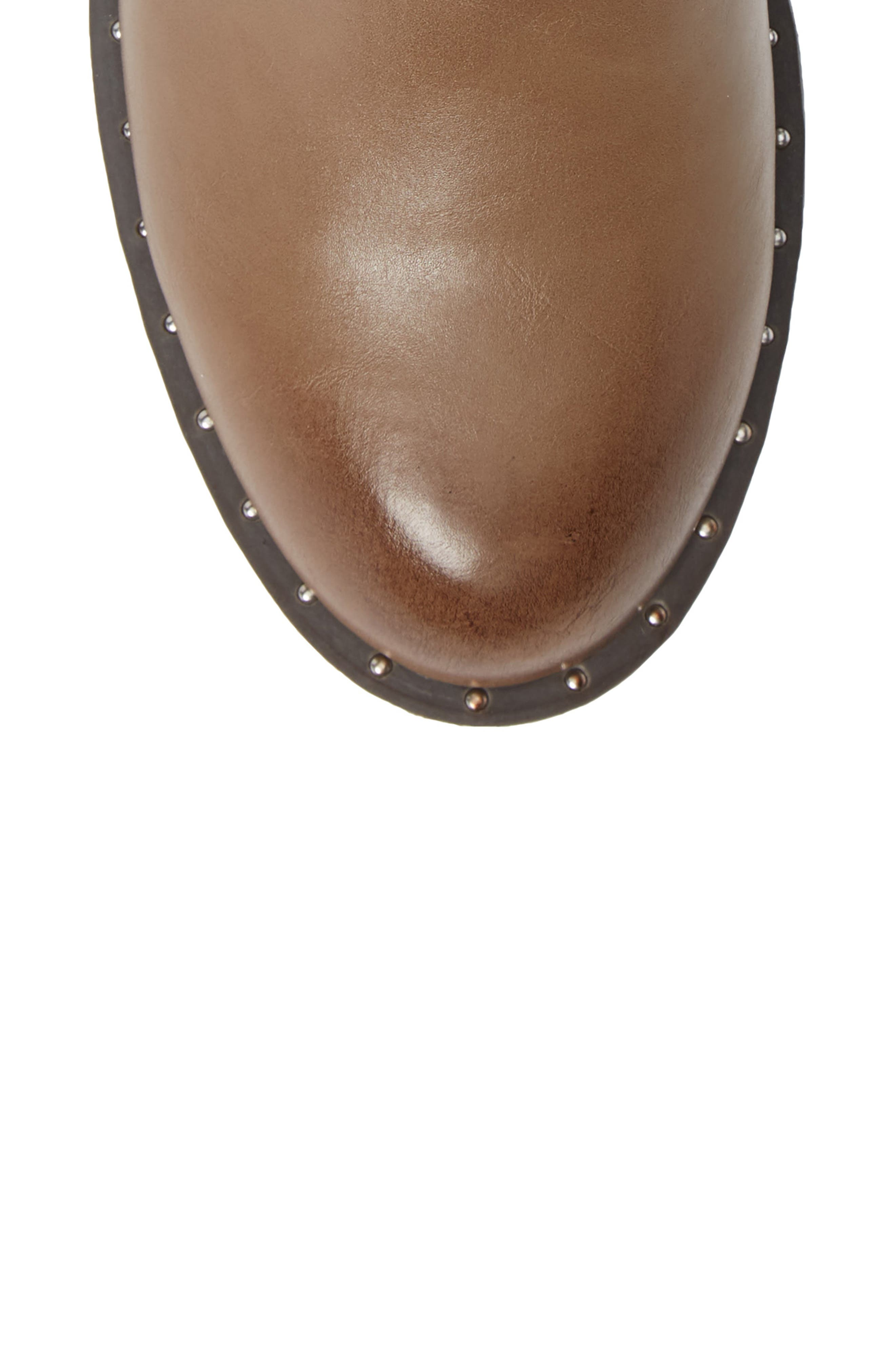 CHARLES BY CHARLES DAVID, Thief Studded Bootie, Alternate thumbnail 5, color, TAUPE SYNTHETIC